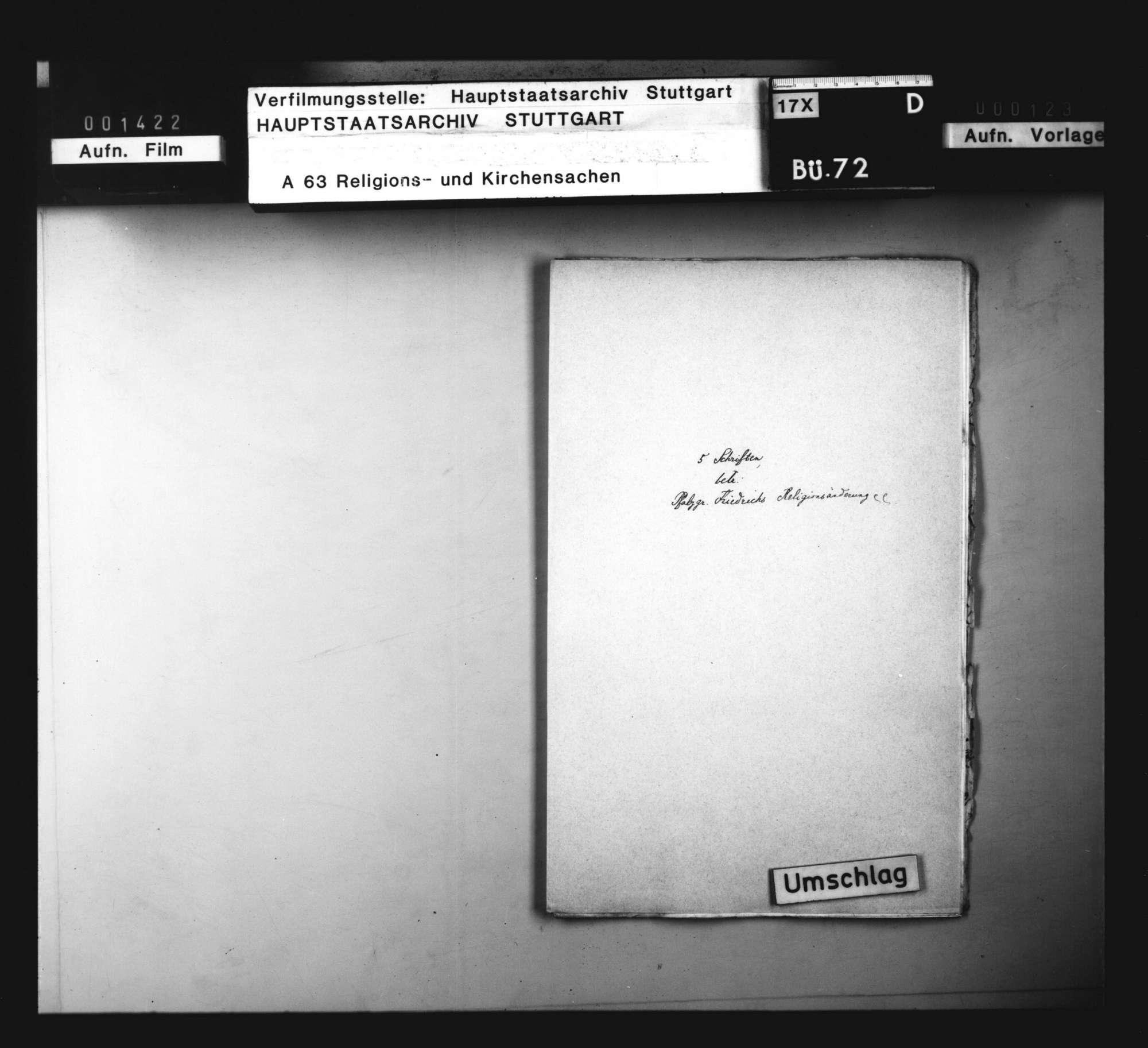 Pfalzgraf Friedrichs Religionsänderung und der Zustand der Religion in der Kurpfalz., Bild 1