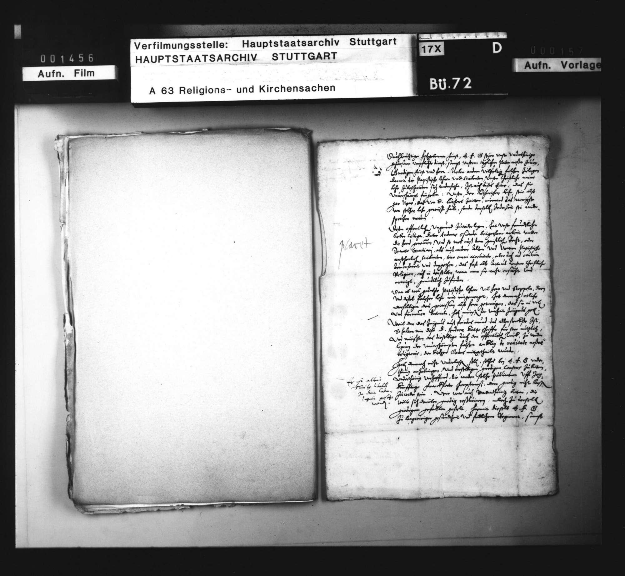 Konsistorialantrag, den Druck einer apologetischen Schrift des Andreas Osiander betreffend., Bild 2