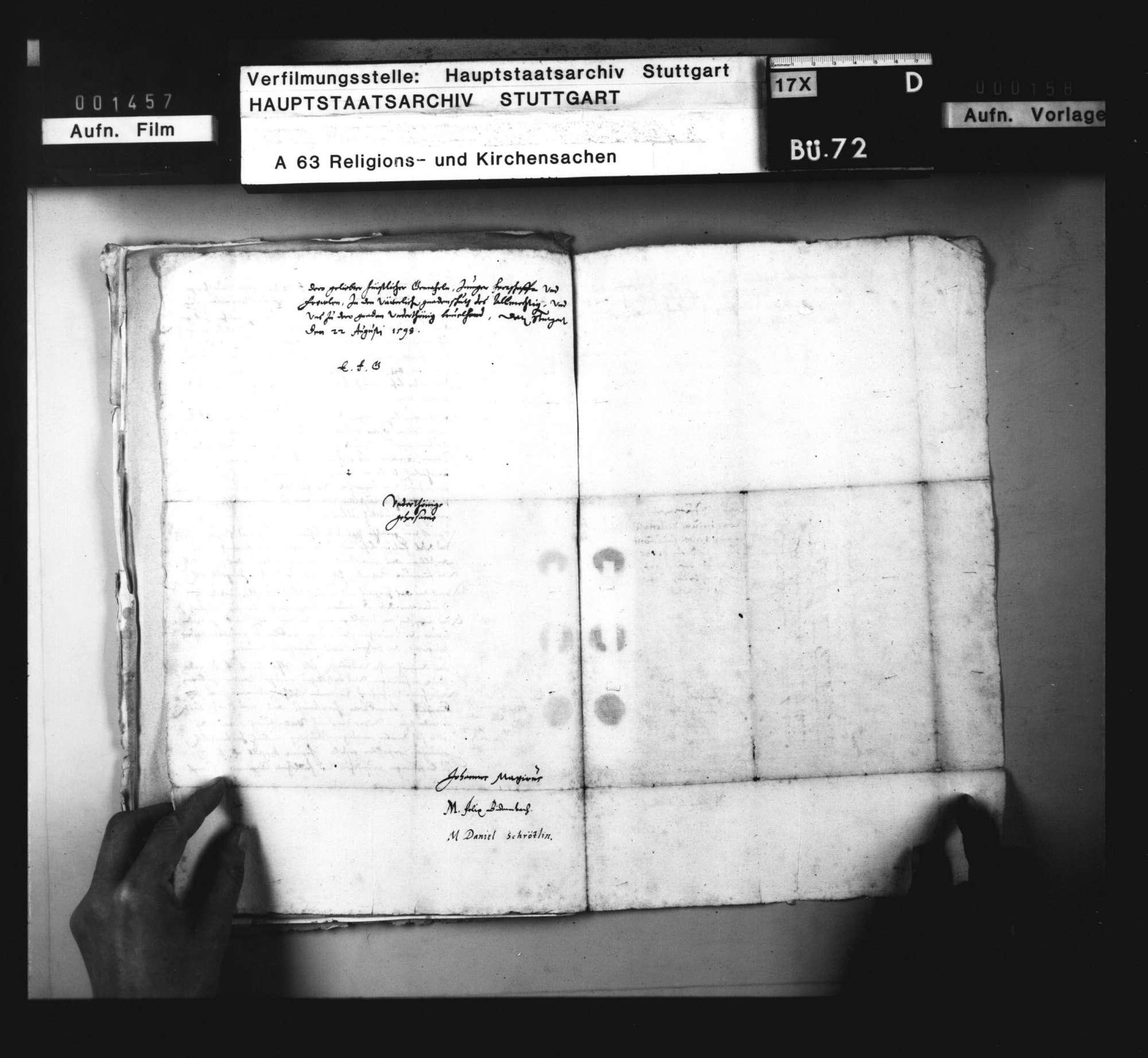 Konsistorialantrag, den Druck einer apologetischen Schrift des Andreas Osiander betreffend., Bild 3