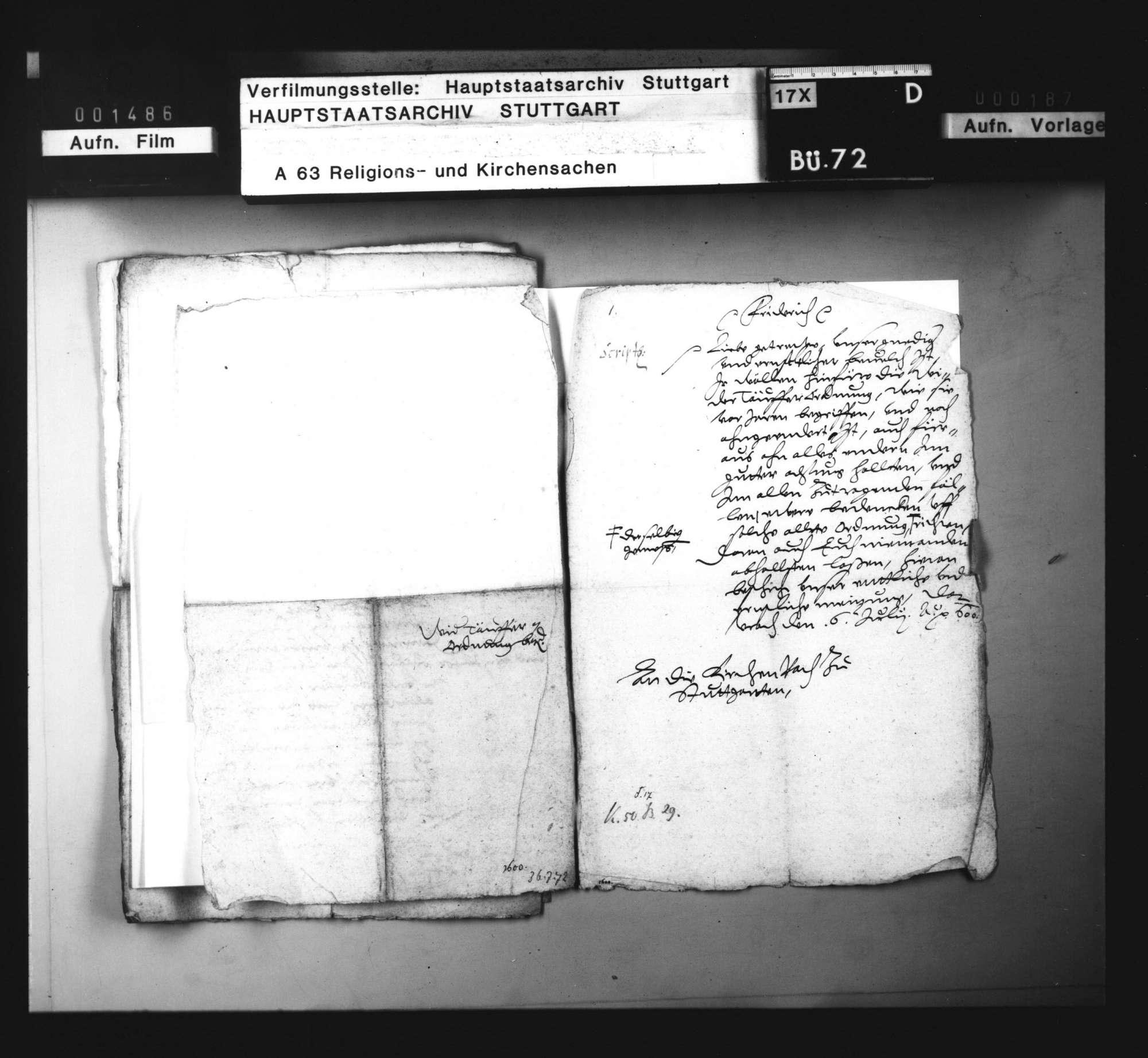 2 Dekrete Herzog Friedrichs, betreffend die Beibehaltung der Wiedertäuferordnung., Bild 2