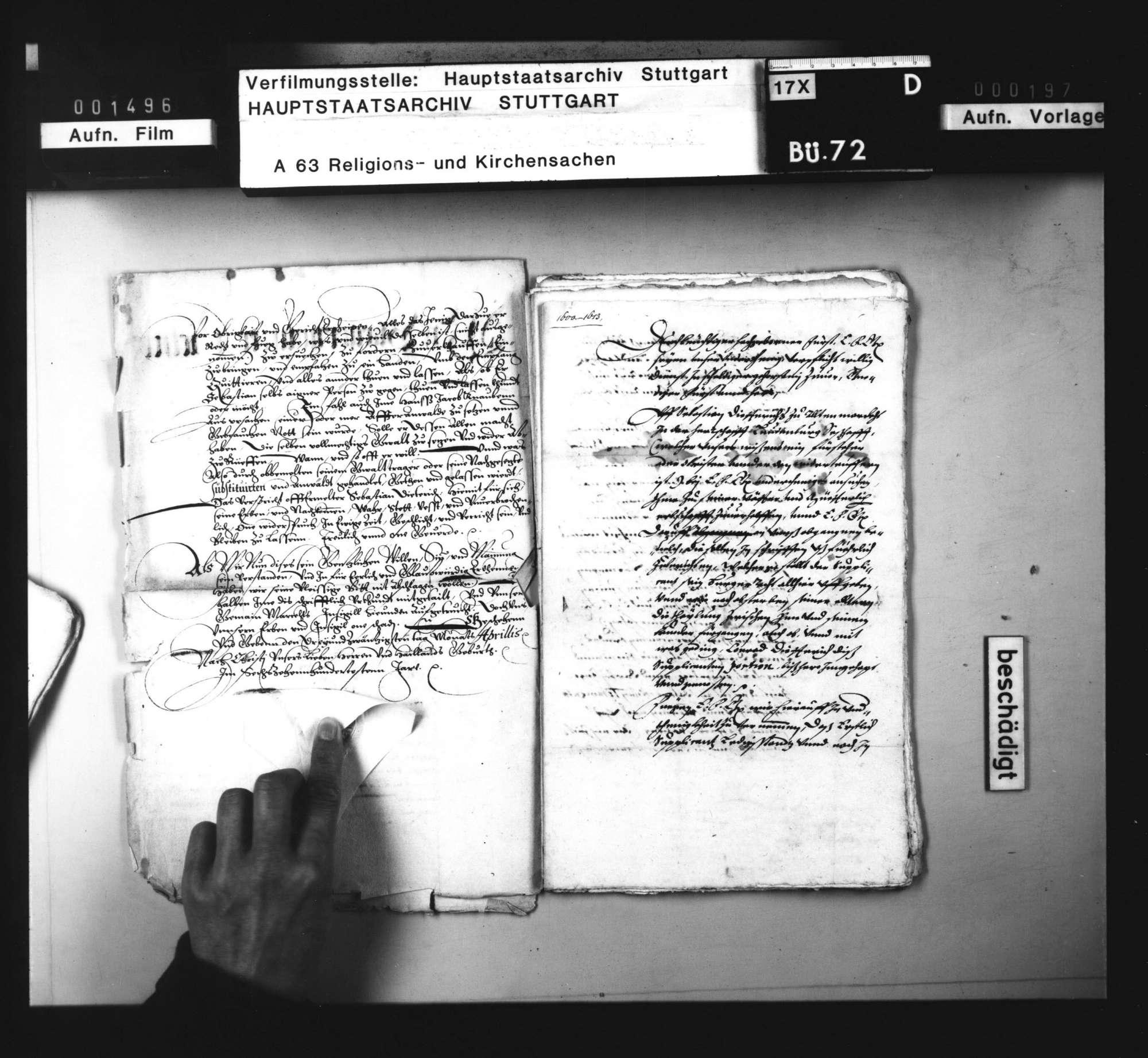 Schriften, betreffend die Verweigerung der Vermögensausfolge an einen nach Mähren ausgewanderten Wiedertäufer [Sebastian Dietrich aus Markgröningen]., Bild 3