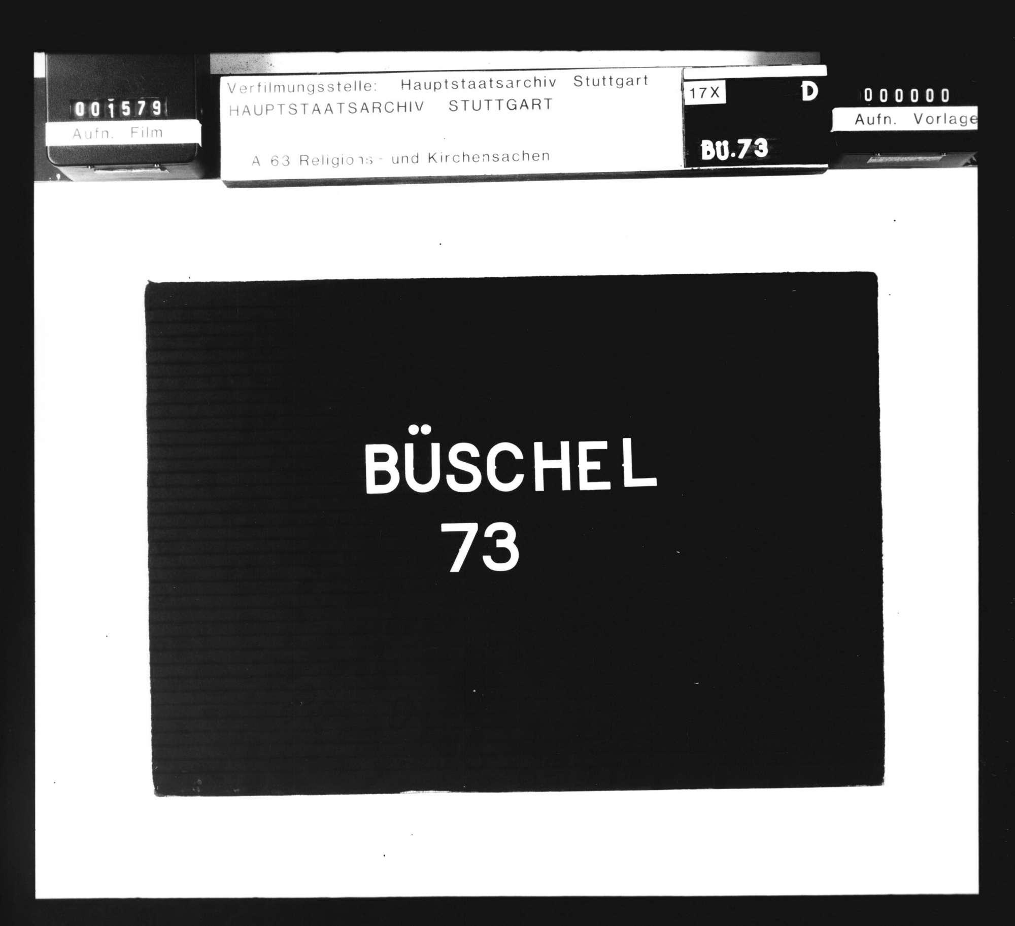 Schriften, betreffend die Konfiskation der Güter von Wiedertäufern in Groß-Gartach und die darüber mit dem Ritterstift in Bruchsal entstandenen Streitigkeiten., Bild 1