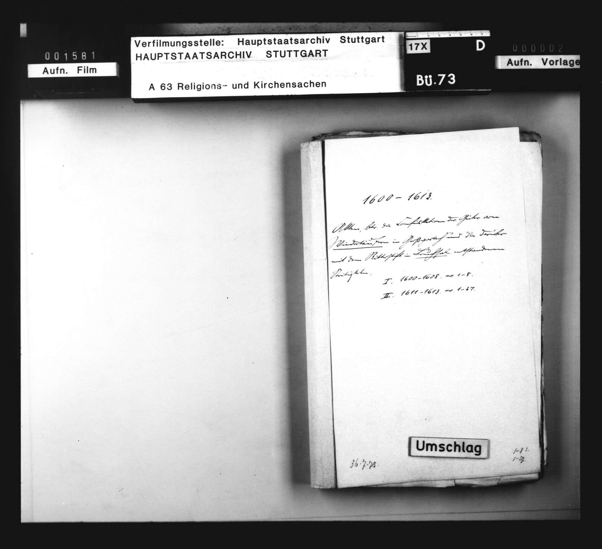 Schriften, betreffend die Konfiskation der Güter von Wiedertäufern in Groß-Gartach und die darüber mit dem Ritterstift in Bruchsal entstandenen Streitigkeiten., Bild 3
