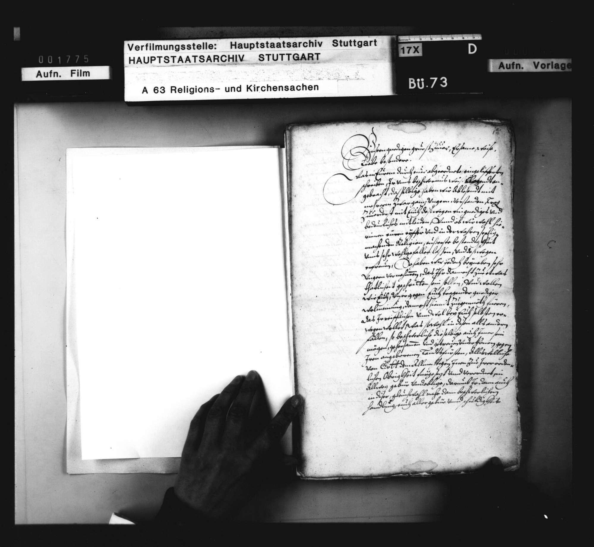Schriften, betreffend die zu Pforzheim wegen Einführung des Calvinismus durch Markgraf Ernst Friedrich entstandenen Unruhen., Bild 2