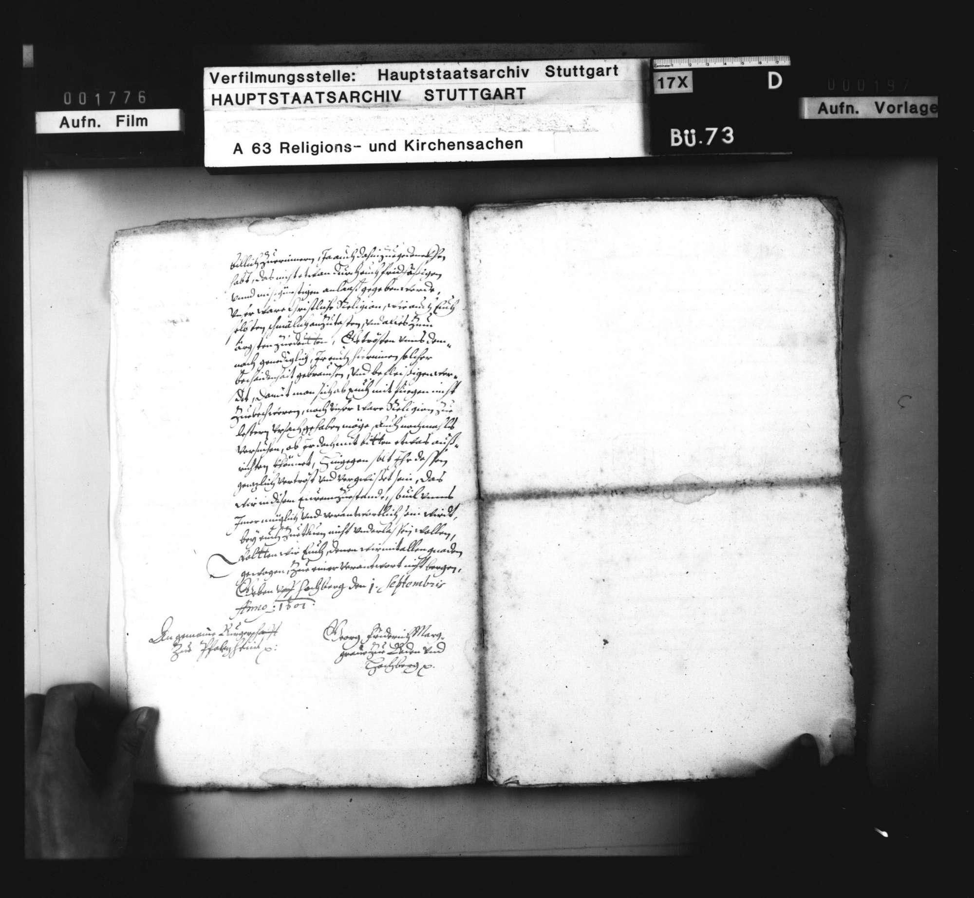 Schriften, betreffend die zu Pforzheim wegen Einführung des Calvinismus durch Markgraf Ernst Friedrich entstandenen Unruhen., Bild 3