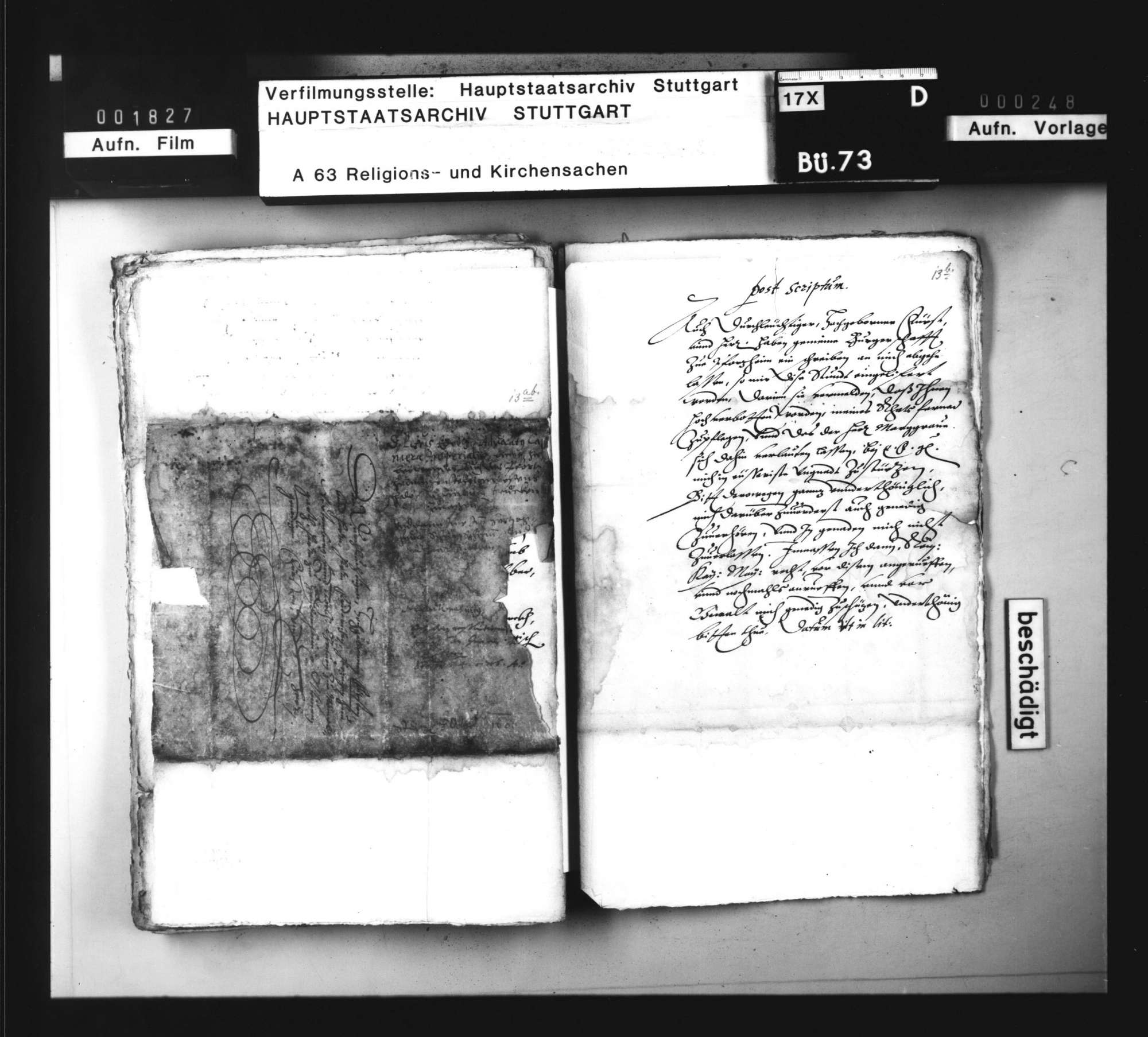 Korrespondenz bzw. Vorschläge zur Abfassung einer Schrift gegen die von Markgraf Ernst Friedrich beabsichtigte Einführung des Calvinismus., Bild 1