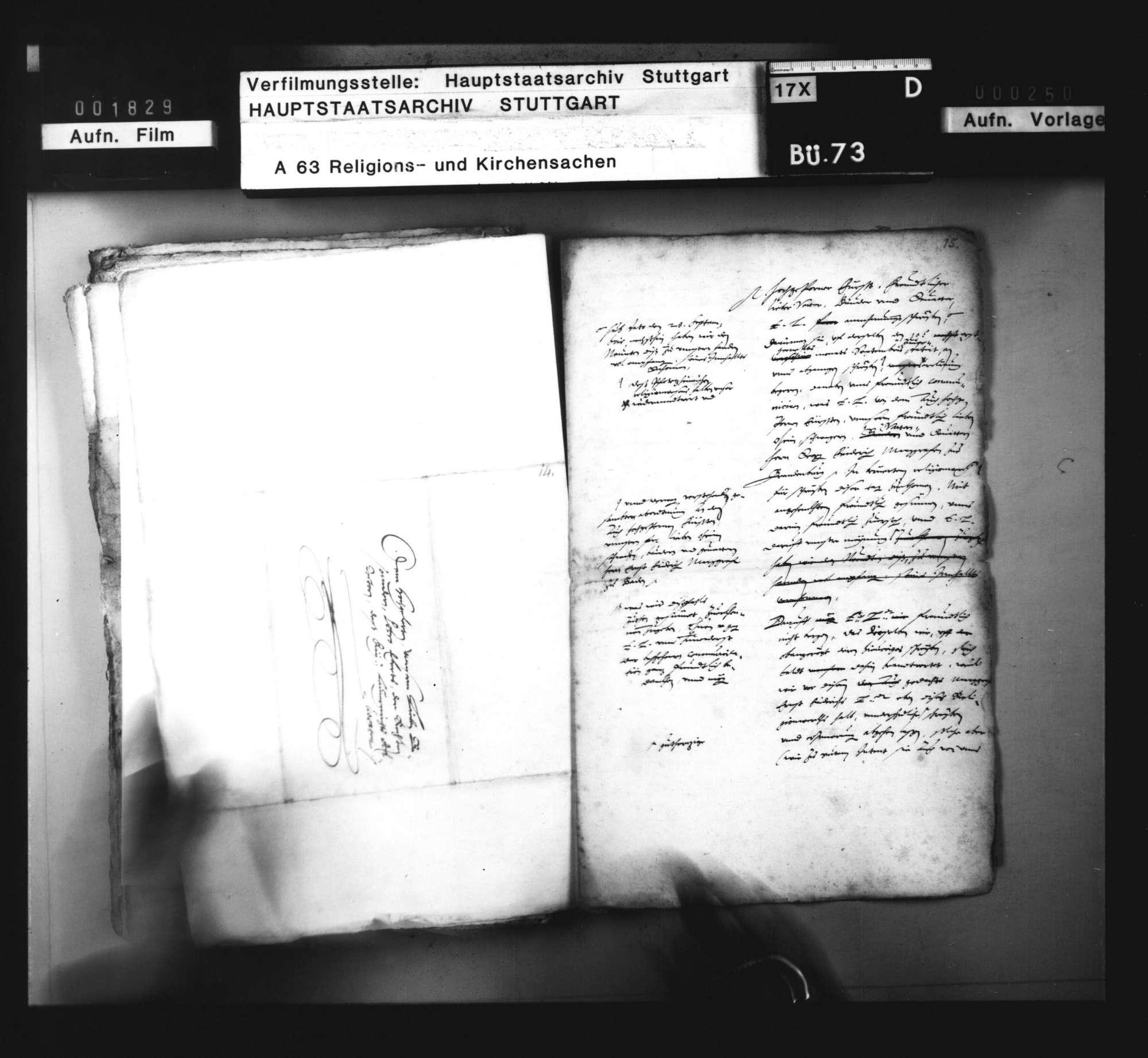 Korrespondenz bzw. Vorschläge zur Abfassung einer Schrift gegen die von Markgraf Ernst Friedrich beabsichtigte Einführung des Calvinismus., Bild 3