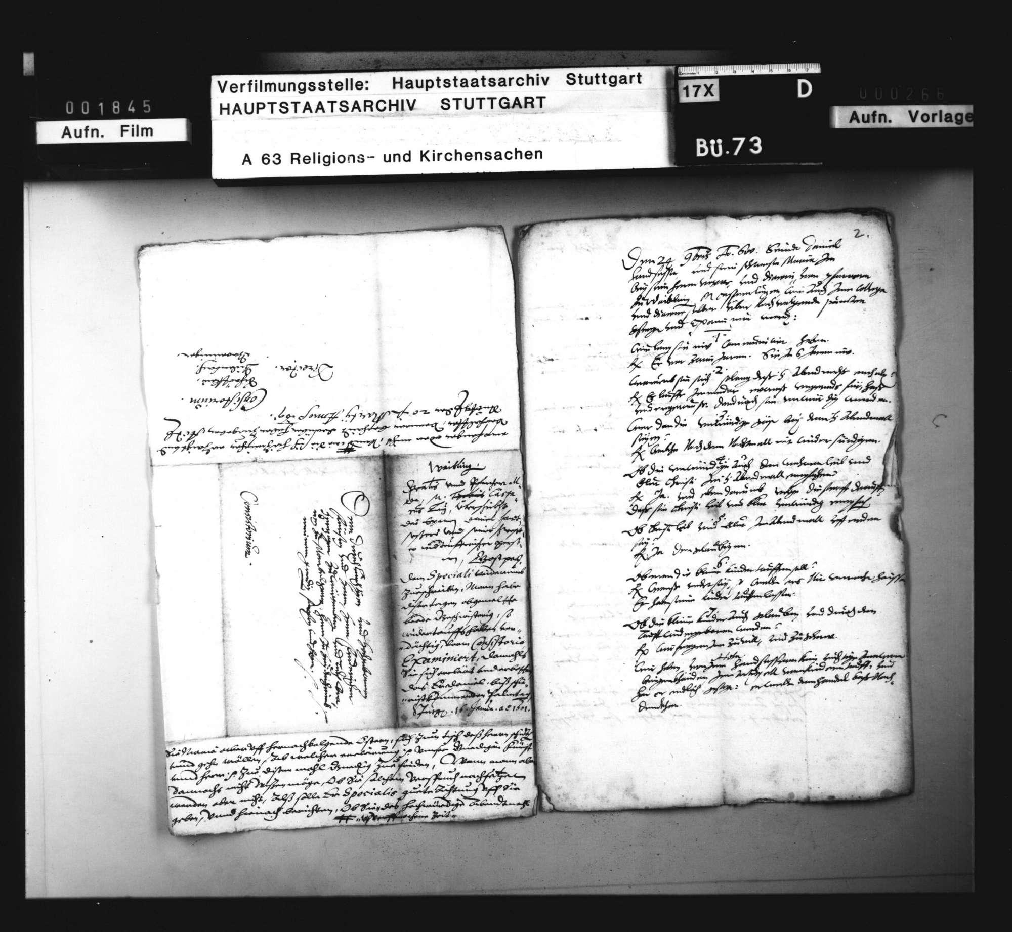 Schriften betreffend einen Wiedertäufer zu Waiblingen., Bild 2