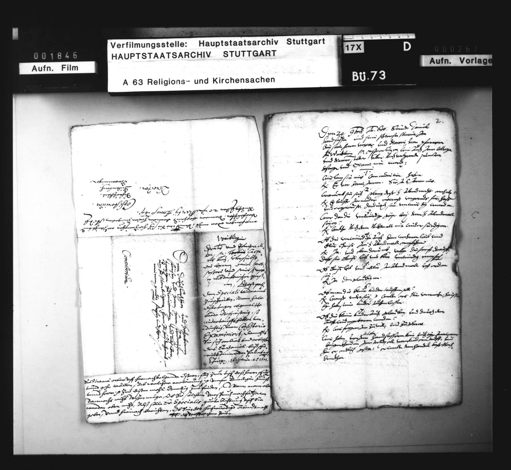 Schriften betreffend einen Wiedertäufer zu Waiblingen., Bild 3