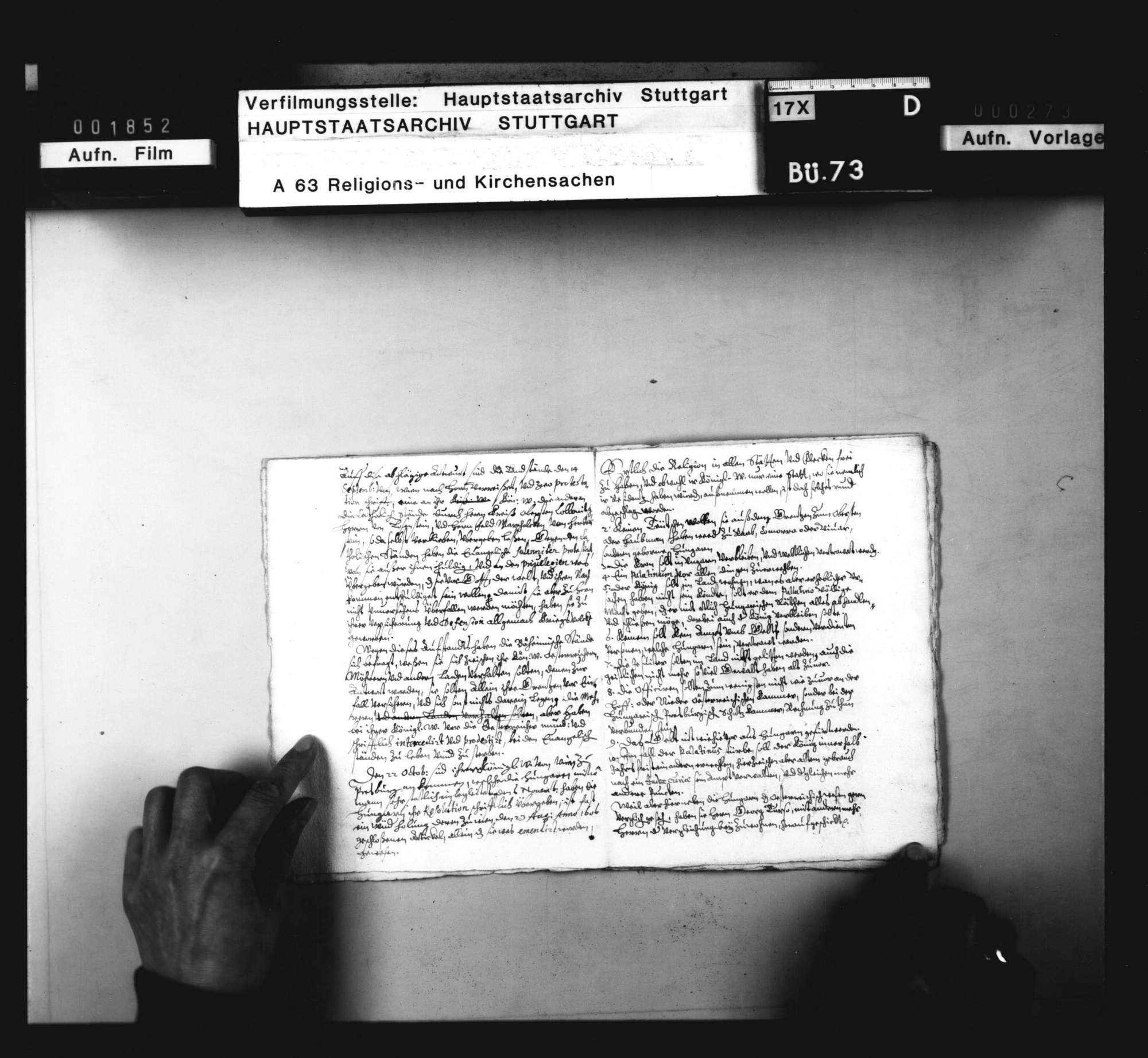 Notamina verschiedener Vorfälle das Religionswesen betreffend. Sine dato., Bild 3