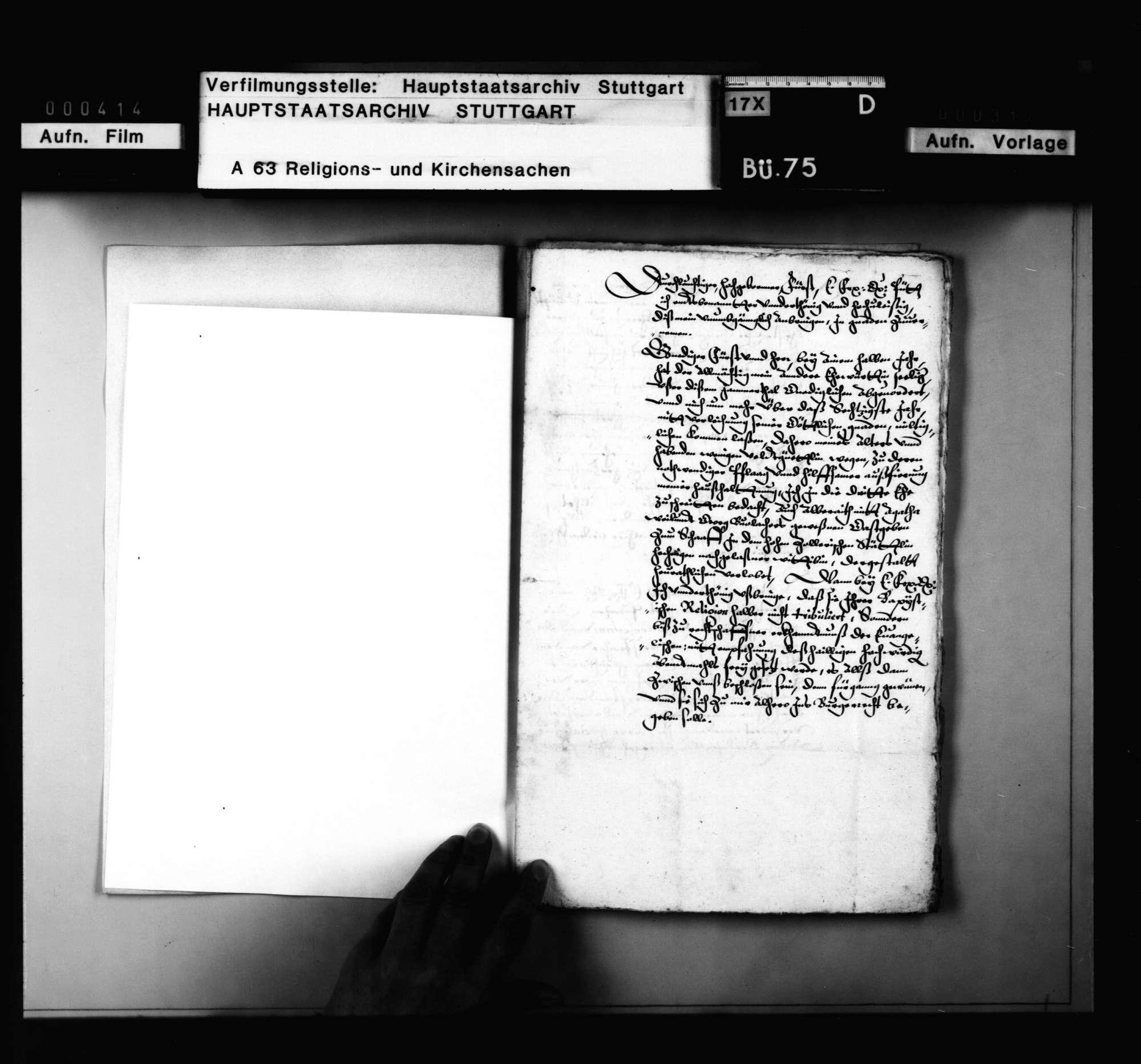 Schriften betreffend die gemischte Ehe eines Ebinger Bürgers., Bild 2