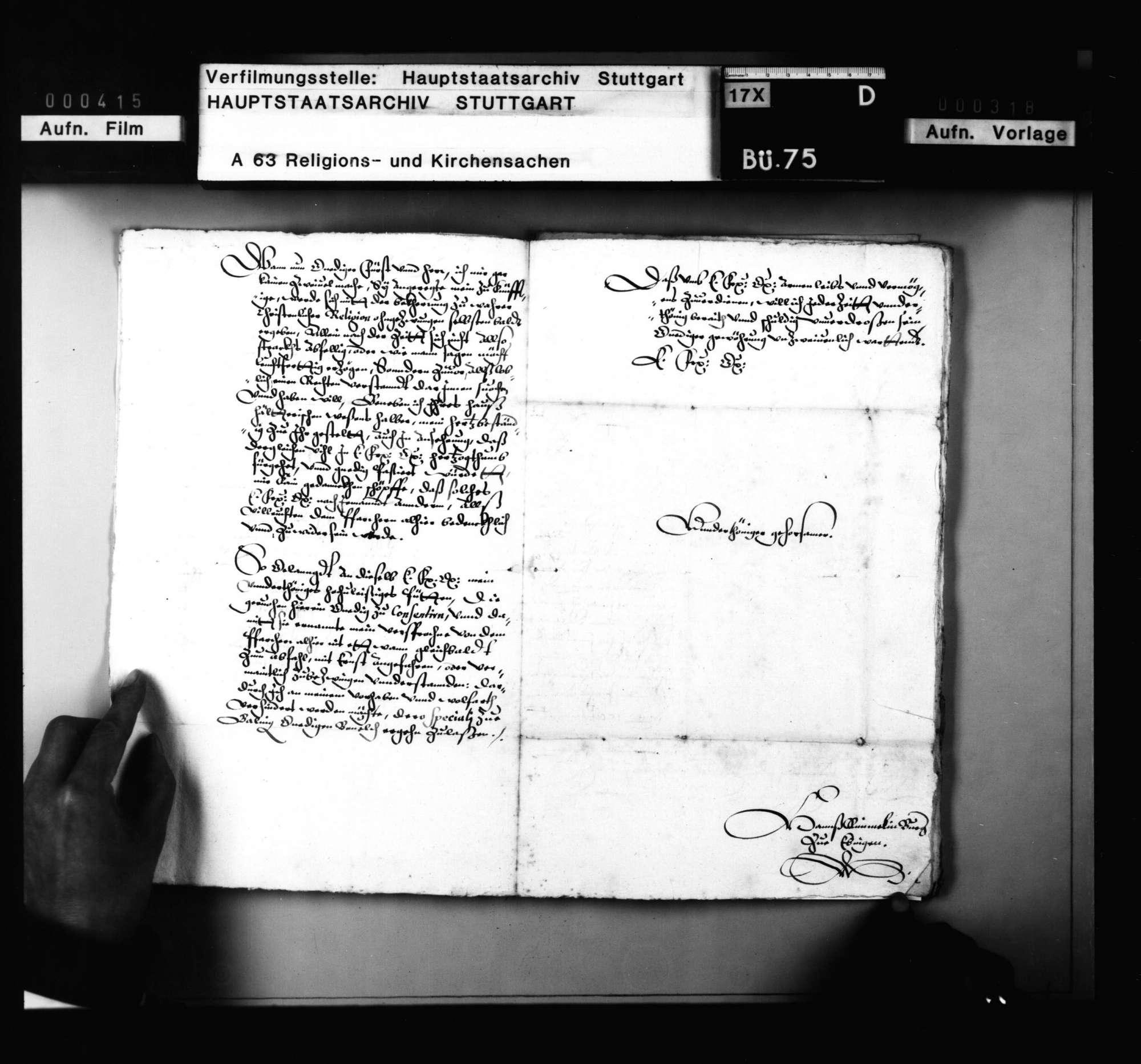 Schriften betreffend die gemischte Ehe eines Ebinger Bürgers., Bild 3