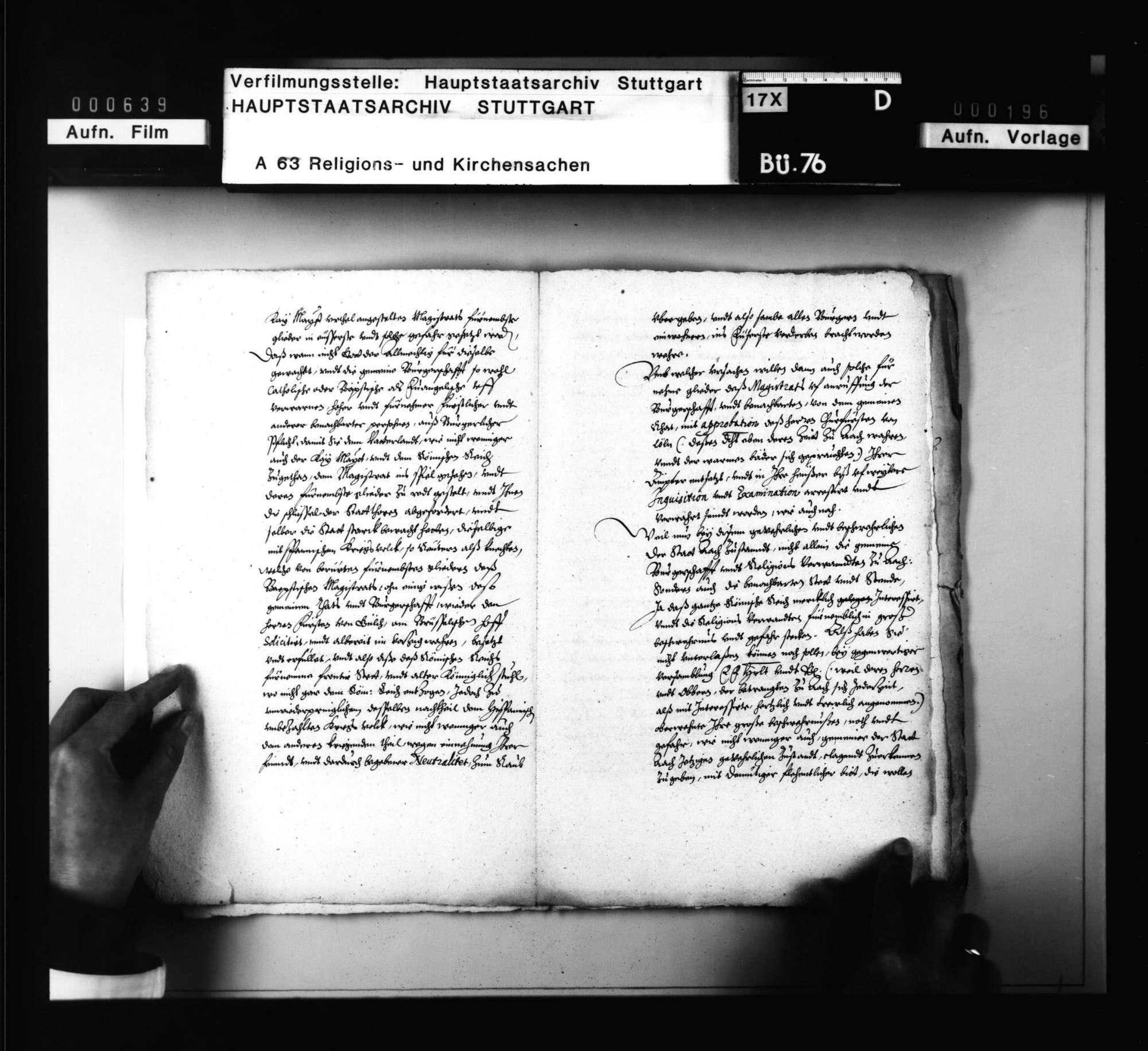 Bittschrift der bedrängten evangelischen Bürgerschaft zu Aachen an die zu Speyer versammelten Gesandten der evangelischen Reichsstädte., Bild 3