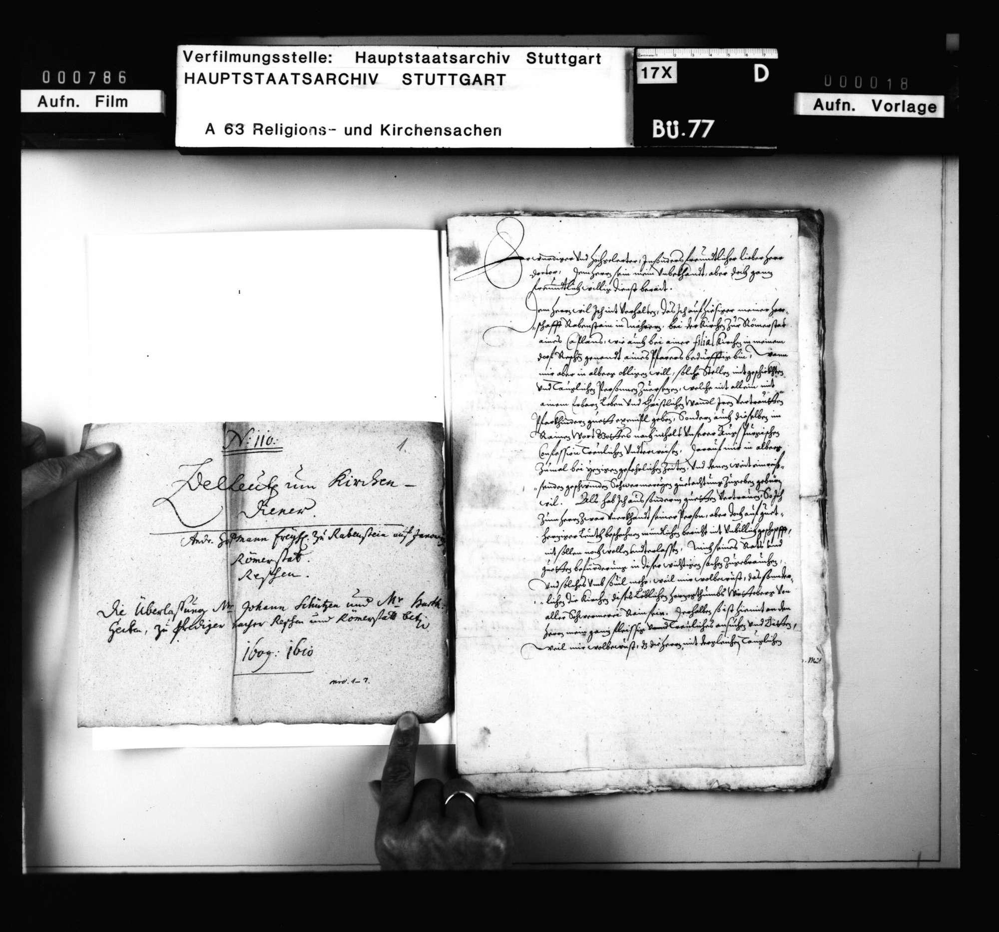 Akten, betreffend die Überlassung württembergischer Geistlicher an auswärtige Kirchen., Bild 2
