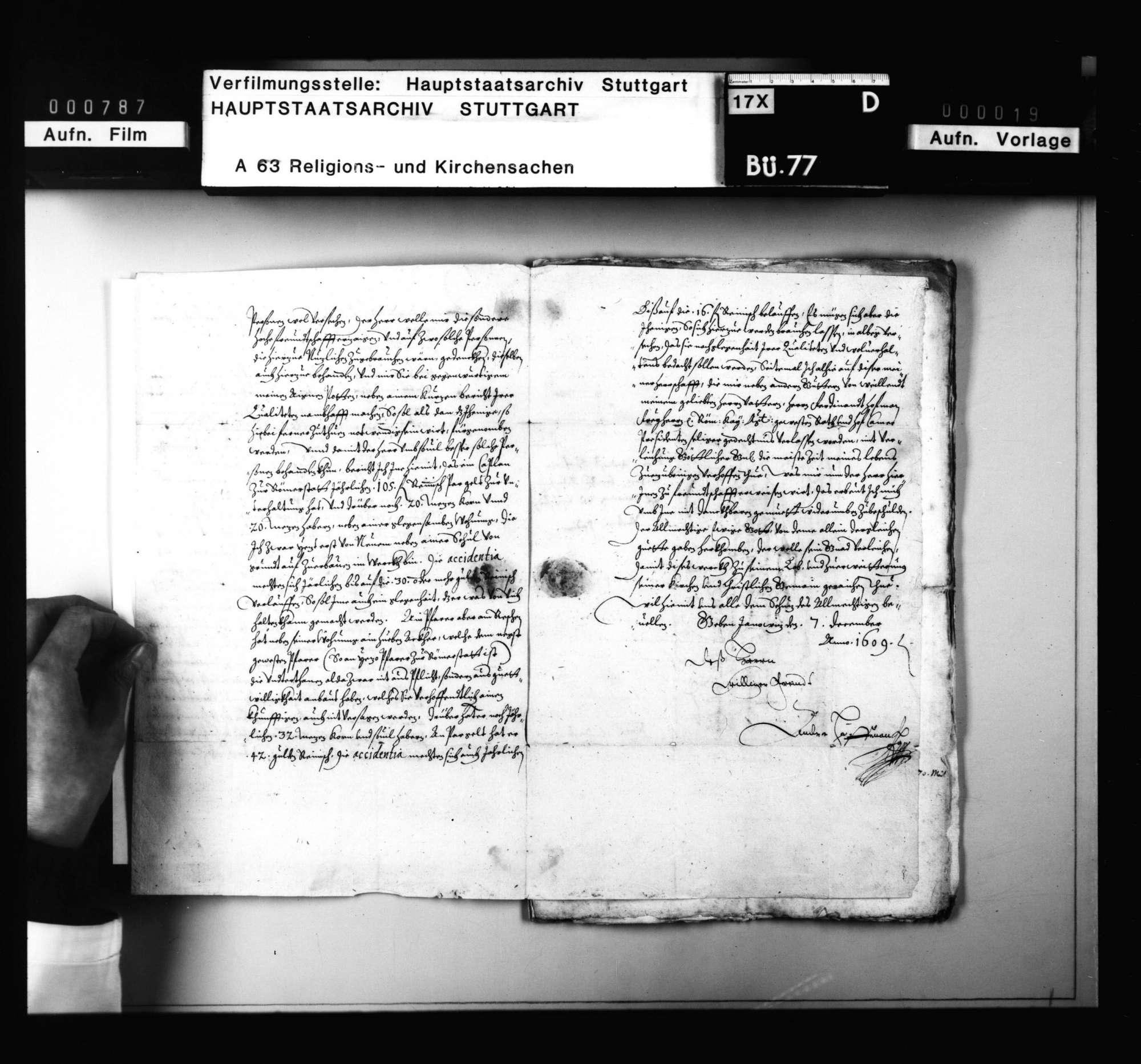 Akten, betreffend die Überlassung württembergischer Geistlicher an auswärtige Kirchen., Bild 3