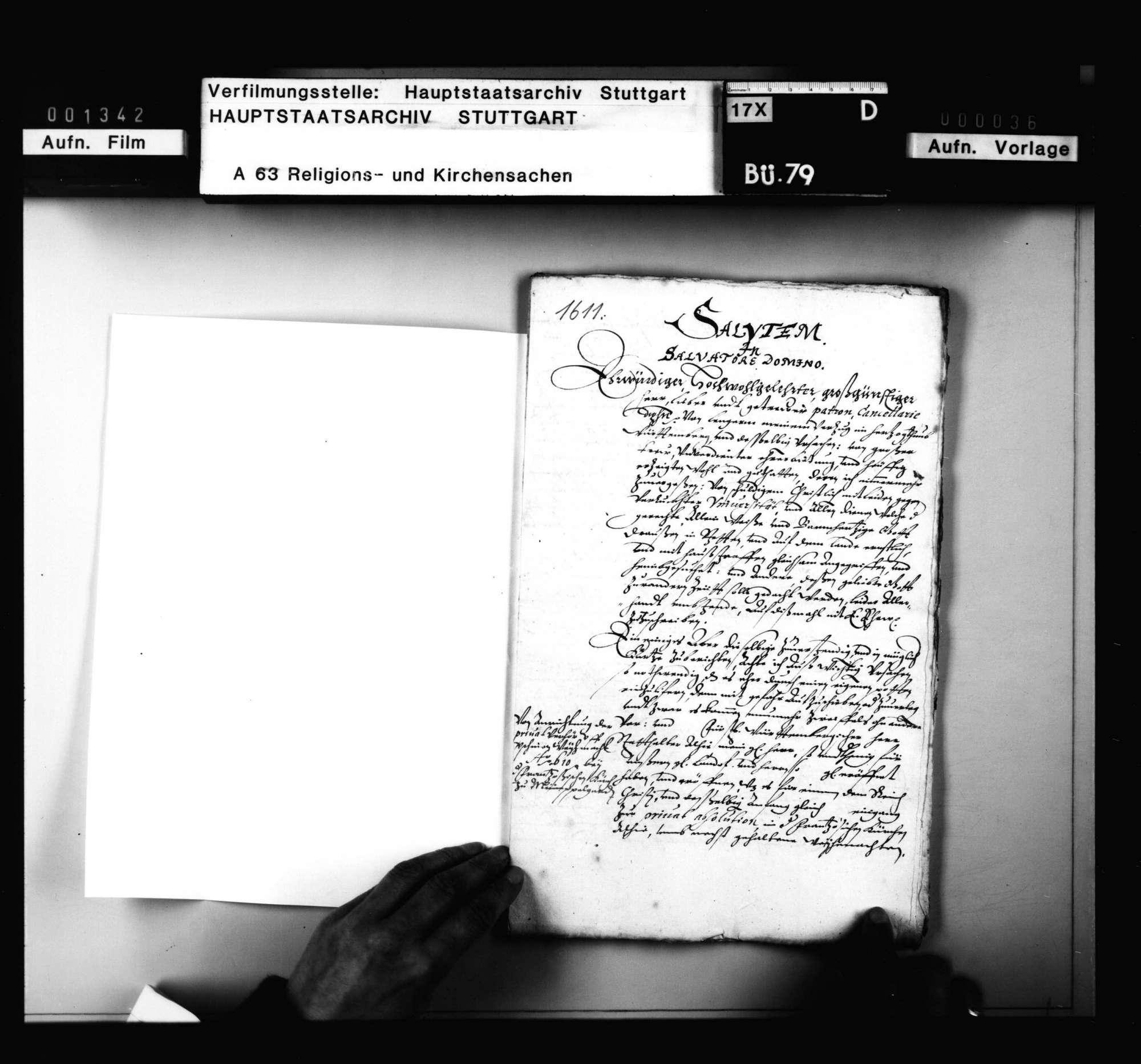 Korrespondenz des Tübinger Professors A. Osiander mit dem Superintendenten zu Mömpelgard und 2 Reskripte, die Privatbeichte betreffend., Bild 2