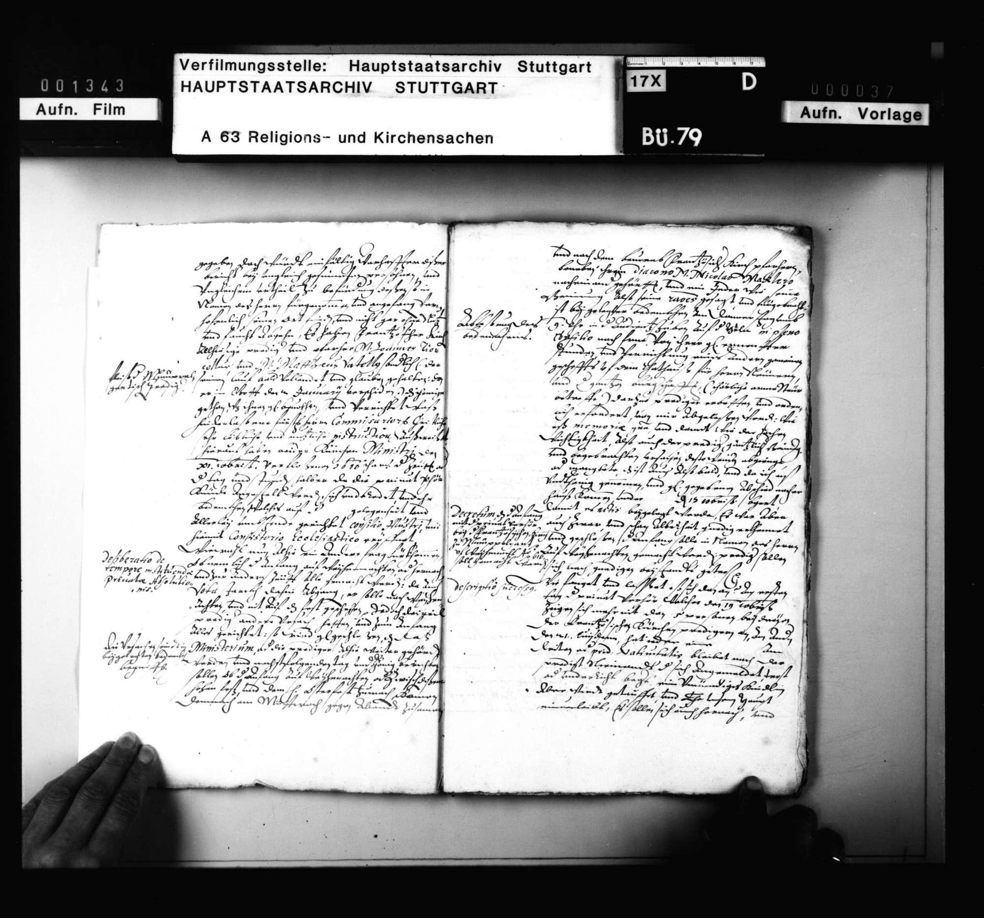 Korrespondenz des Tübinger Professors A. Osiander mit dem Superintendenten zu Mömpelgard und 2 Reskripte, die Privatbeichte betreffend., Bild 3