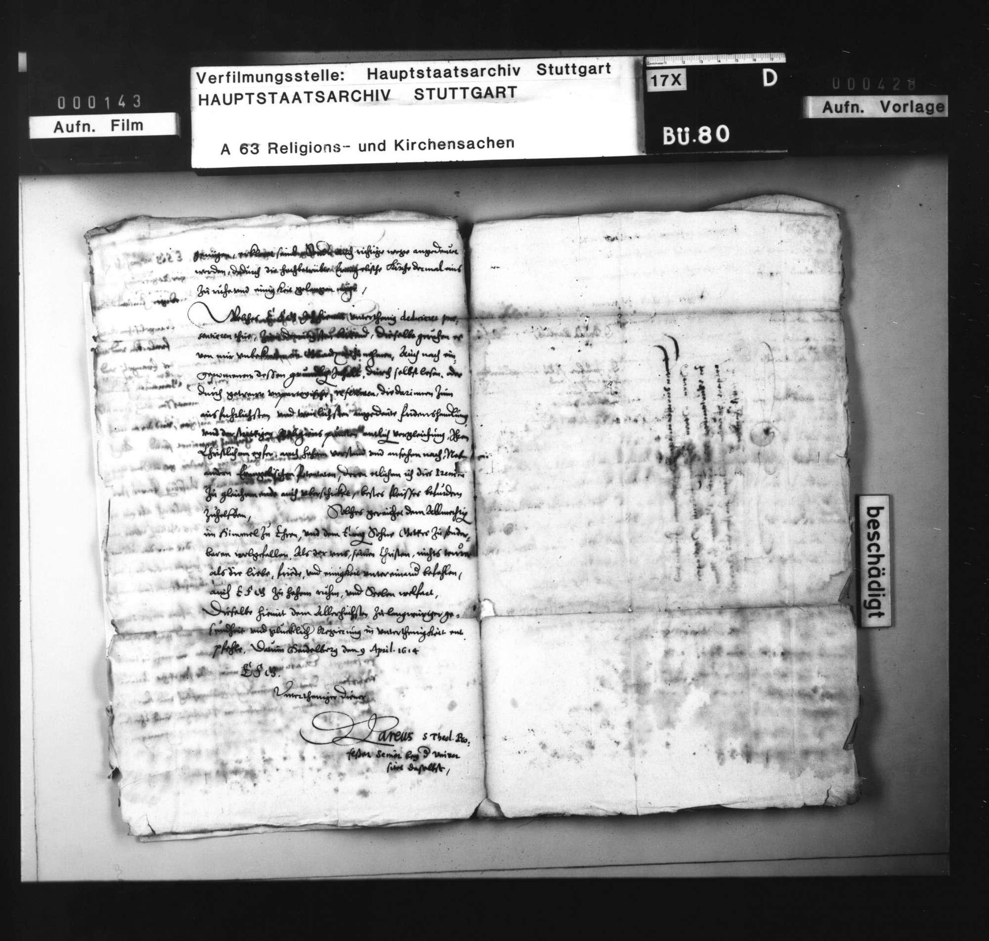 Schriften, betreffend die Wiederlegung des calvinistischen Irenicum von David Pareus durch den Tübinger Professor J. G. Sigwart., Bild 3