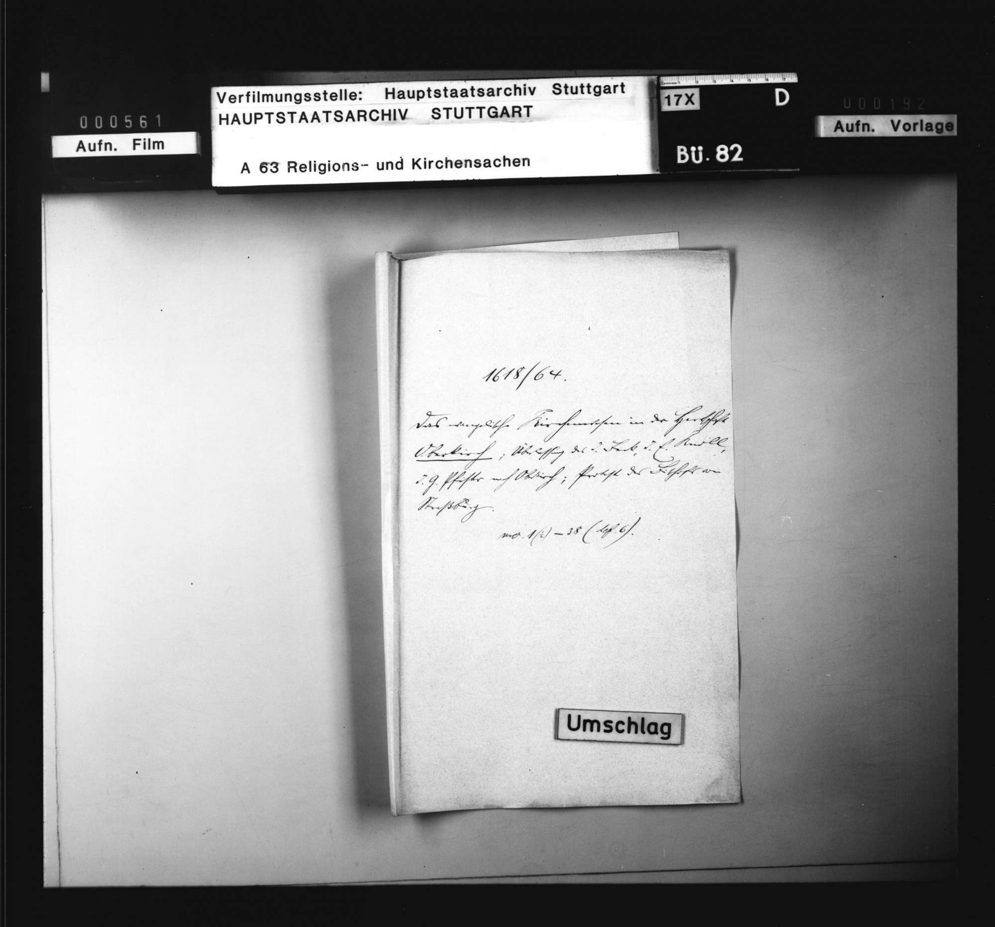 Schriften, betreffend das evangelische Kirchenwesen in der Herrschaft Oberkirch, Bild 1