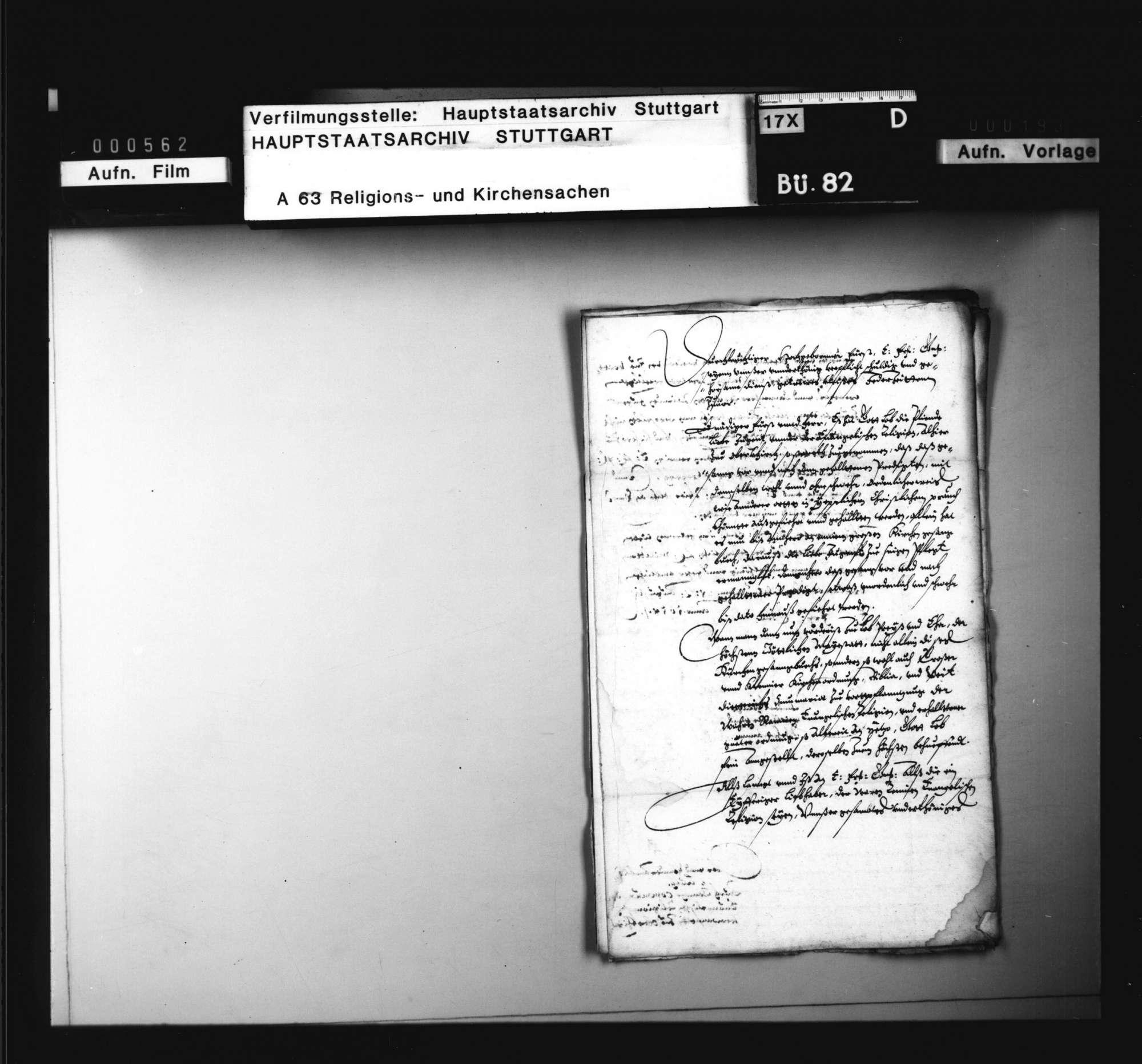 Schriften, betreffend das evangelische Kirchenwesen in der Herrschaft Oberkirch, Bild 2