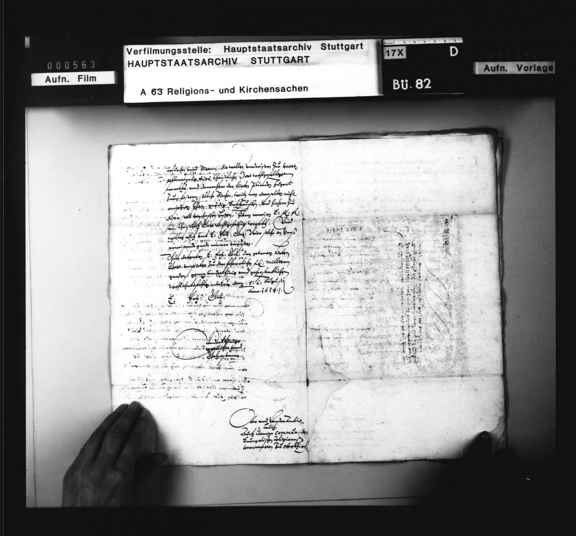 Schriften, betreffend das evangelische Kirchenwesen in der Herrschaft Oberkirch, Bild 3