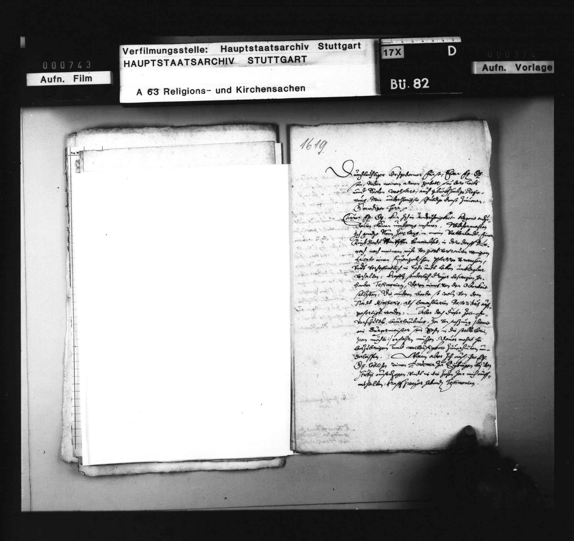 Bitte des M. Langendörfer von Wimpfen um Verwendung im württembergischen Kirchendienst, Bild 1