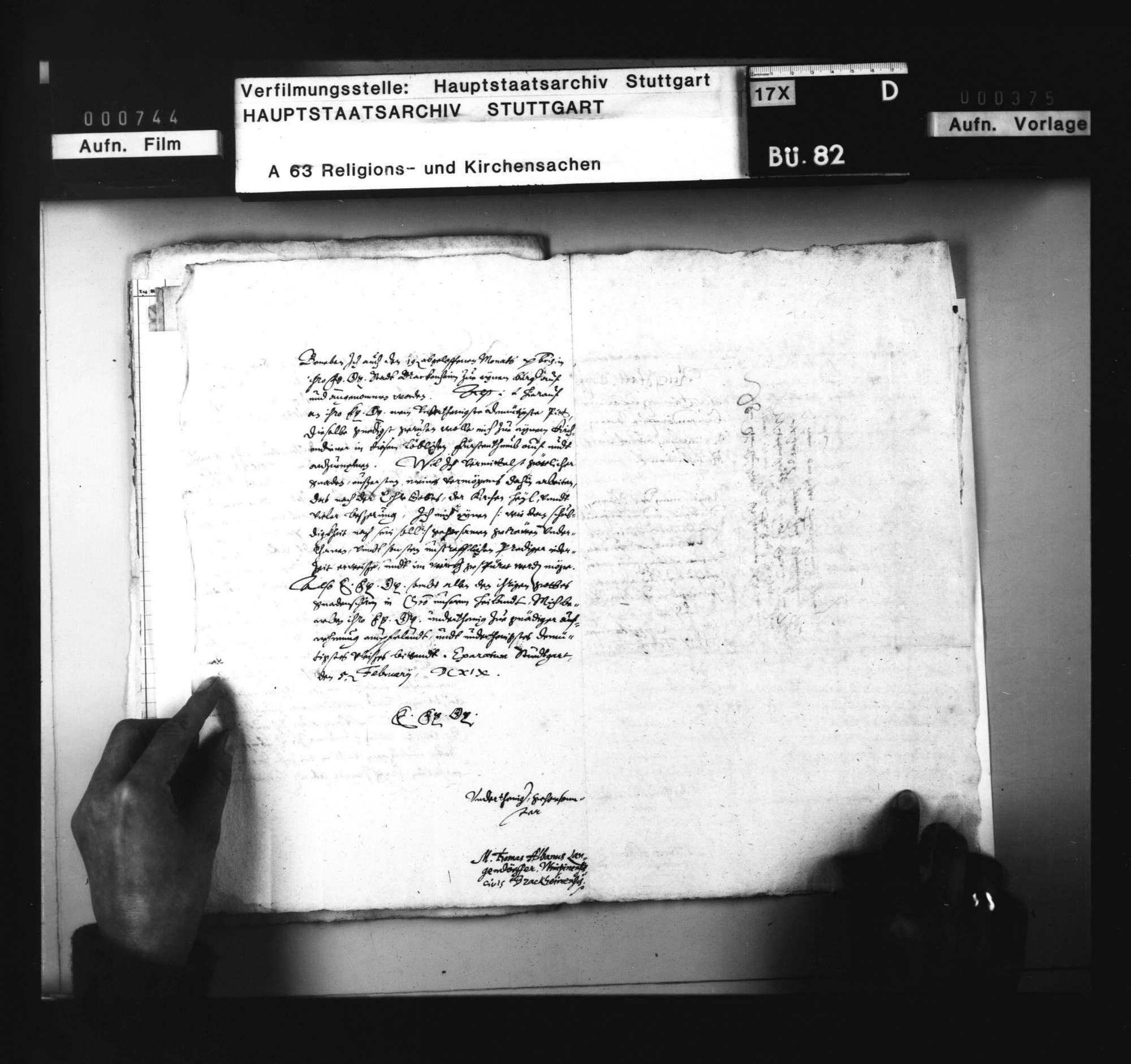 Bitte des M. Langendörfer von Wimpfen um Verwendung im württembergischen Kirchendienst, Bild 2