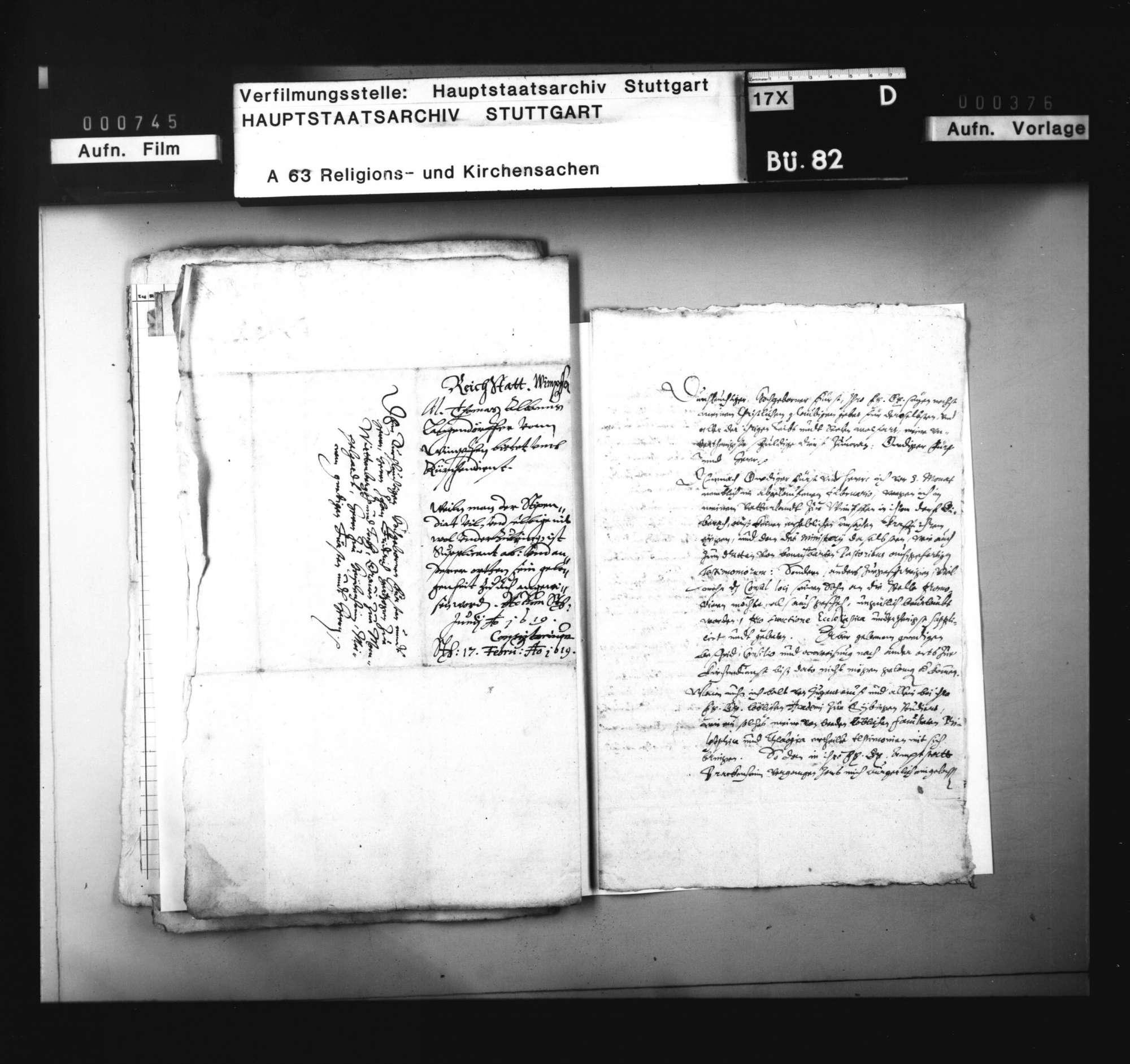 Bitte des M. Langendörfer von Wimpfen um Verwendung im württembergischen Kirchendienst, Bild 3