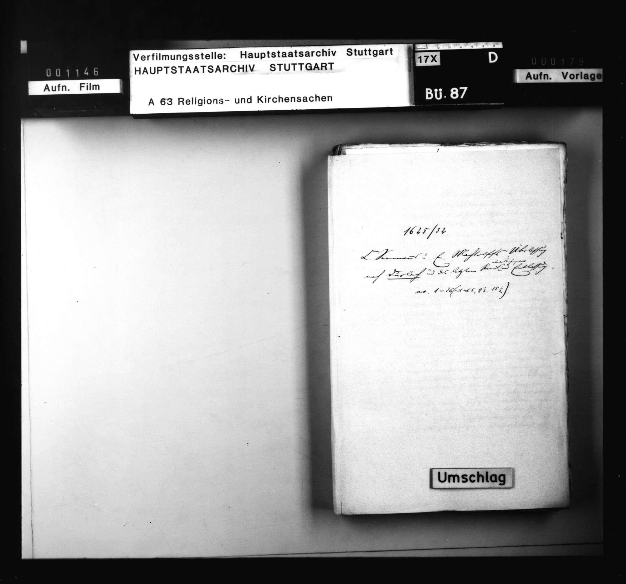 Schriften, betreffend C. Seemanns und E. Machtolffs Überlassung nach Durlach und des letzteren Entlassung wegen seines Streits über die Kirchengewalt., Bild 1