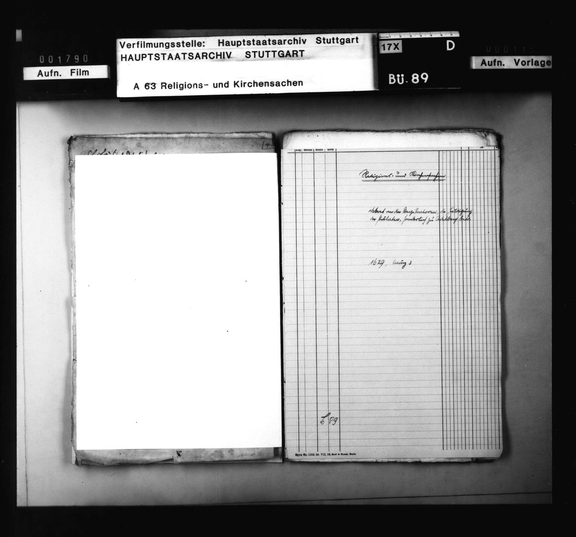 Dekret an die Registratoren um Bericht über die Huldigung der Prälaten, sonderlich zu Adelberg, einschließlich angeforderter Bericht., Bild 1