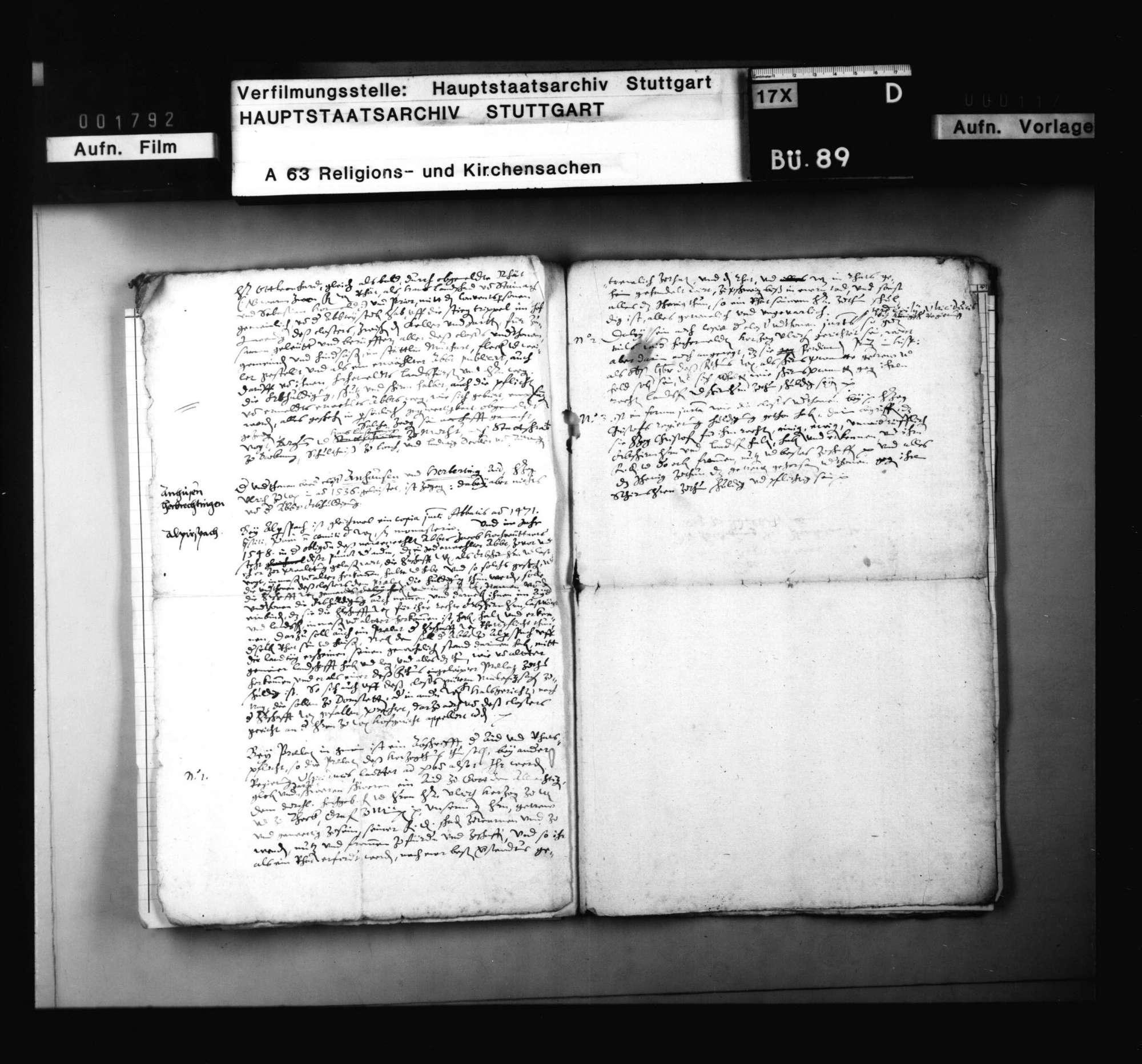 Dekret an die Registratoren um Bericht über die Huldigung der Prälaten, sonderlich zu Adelberg, einschließlich angeforderter Bericht., Bild 3