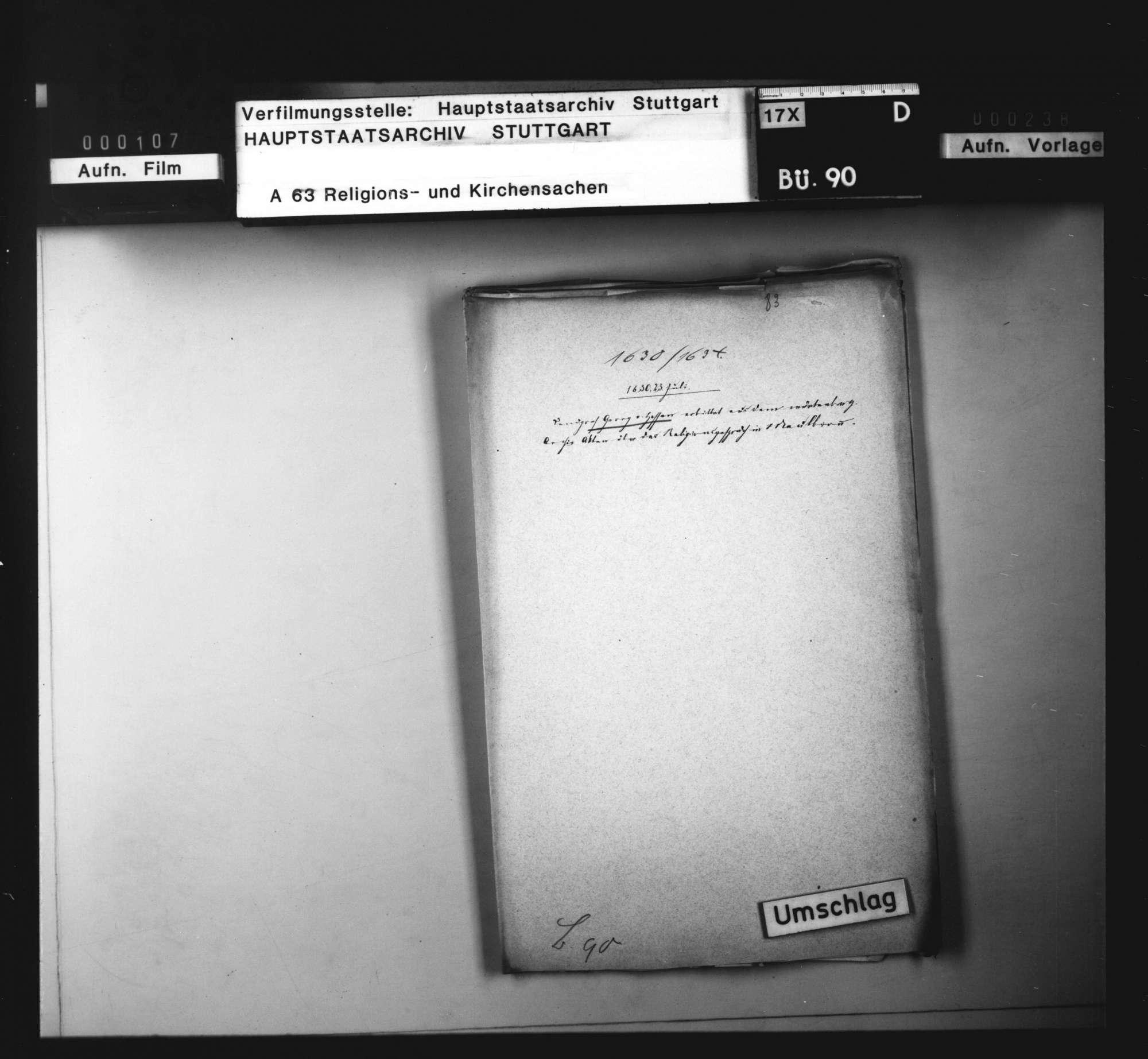 Landgraf Georg von Hessen bittet um Akten aus dem württembergischen Archiv., Bild 1