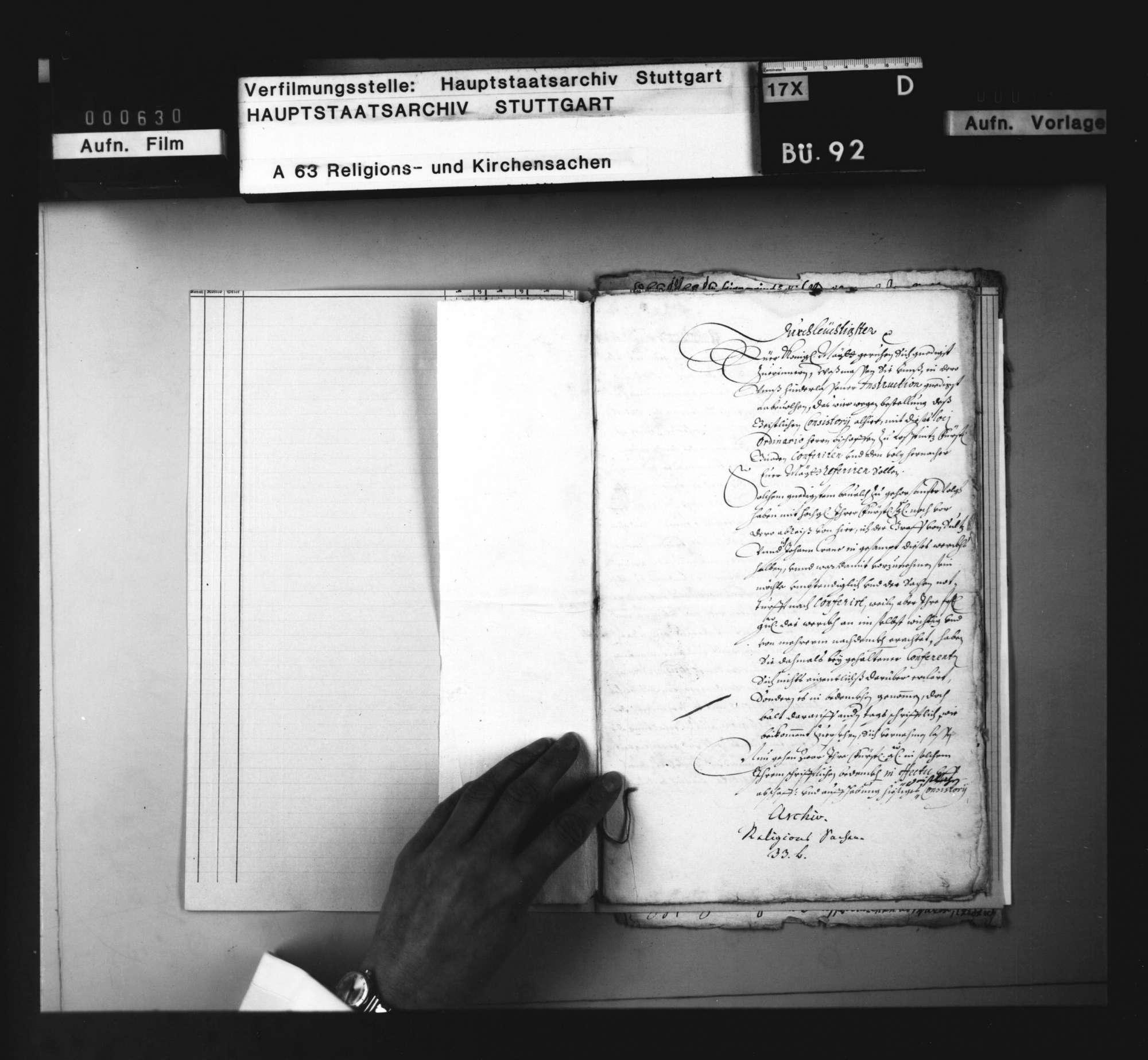 Gutachten der kaiserlichen Kommissare Graf von Sulz und Johann Crane an König Ferdinand III., wegen der Bestellung des geistlichen Konsistoriums und den Verhandlungen darüber mit dem Bischof von Konstanz., Bild 2
