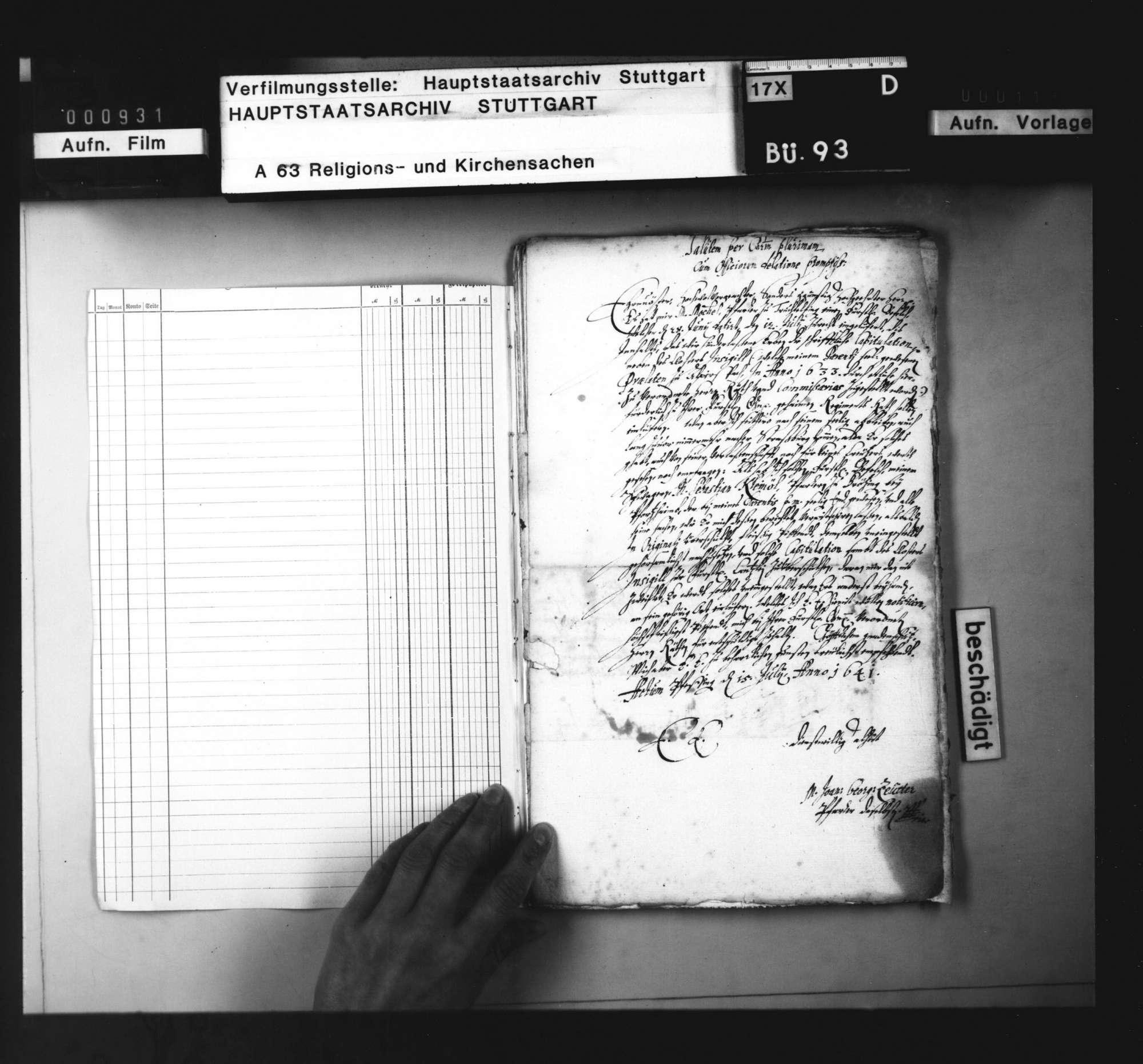 Anbringen der Kirchenräte an Herzog Eberhard III., den 1633/34 eingesetzten Pröpsten und Prälaten im Land die ihnen übergebenen Siegel und Kapitulationen abzufordern., Bild 2