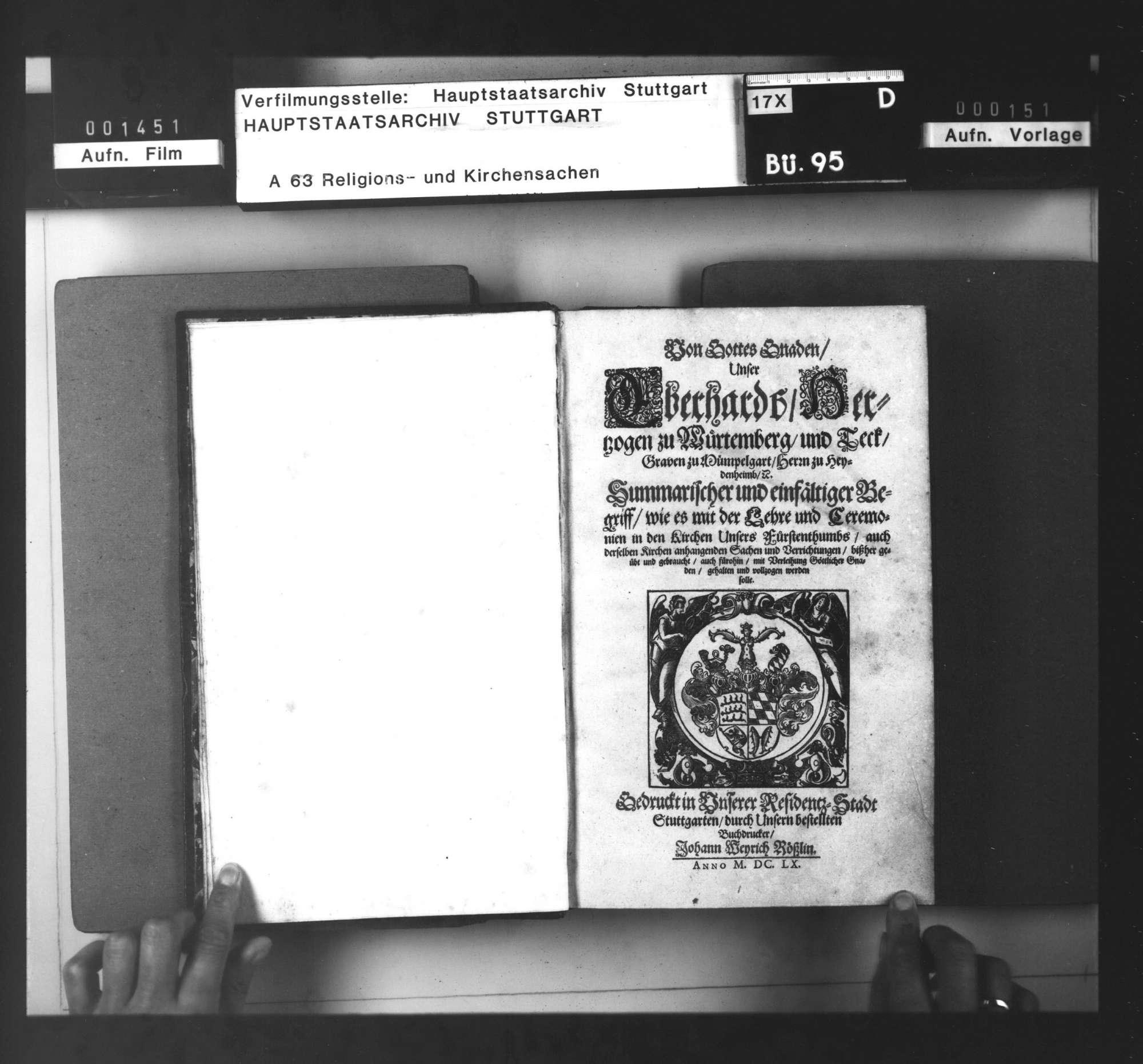 Herzog Eberhards III. Kirchenordnung., Bild 3