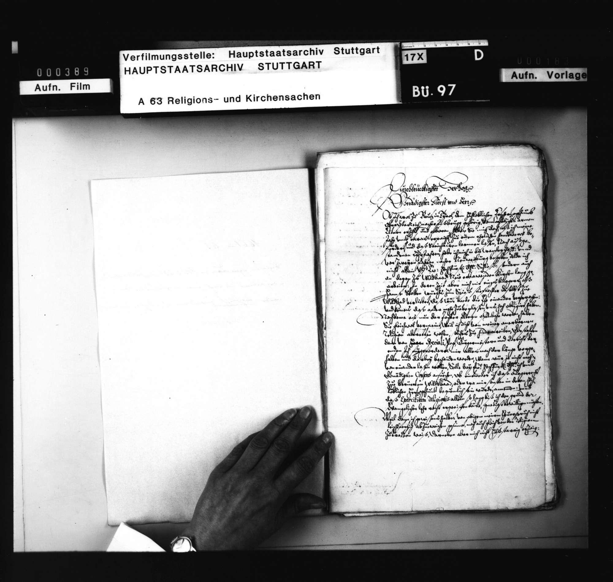 Schriften, betreffend das Verfahren gegen den in Wildbad zum Protestantismus übergetretenen und nach seiner Aufnahme im Land wieder katholisch geworden G. Fuchs aus Tirol., Bild 2