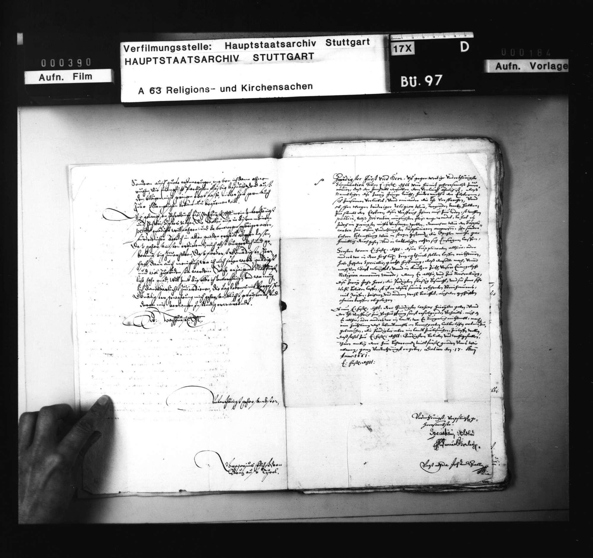 Schriften, betreffend das Verfahren gegen den in Wildbad zum Protestantismus übergetretenen und nach seiner Aufnahme im Land wieder katholisch geworden G. Fuchs aus Tirol., Bild 3