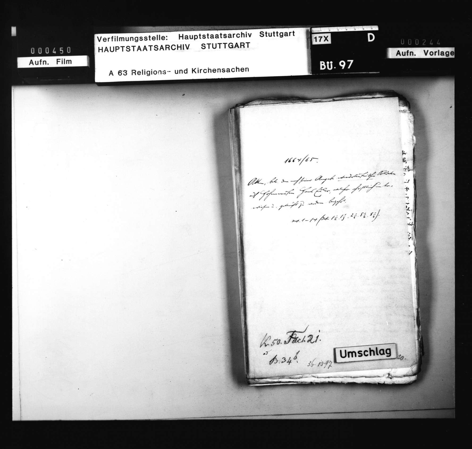 Schriften, betreffend den nach seiner Angabe wiedertäuferischen Soldaten auf Hohenneufen Hans Euler, welcher christlich unterwiesen und getauft zu werden begehrt., Bild 1