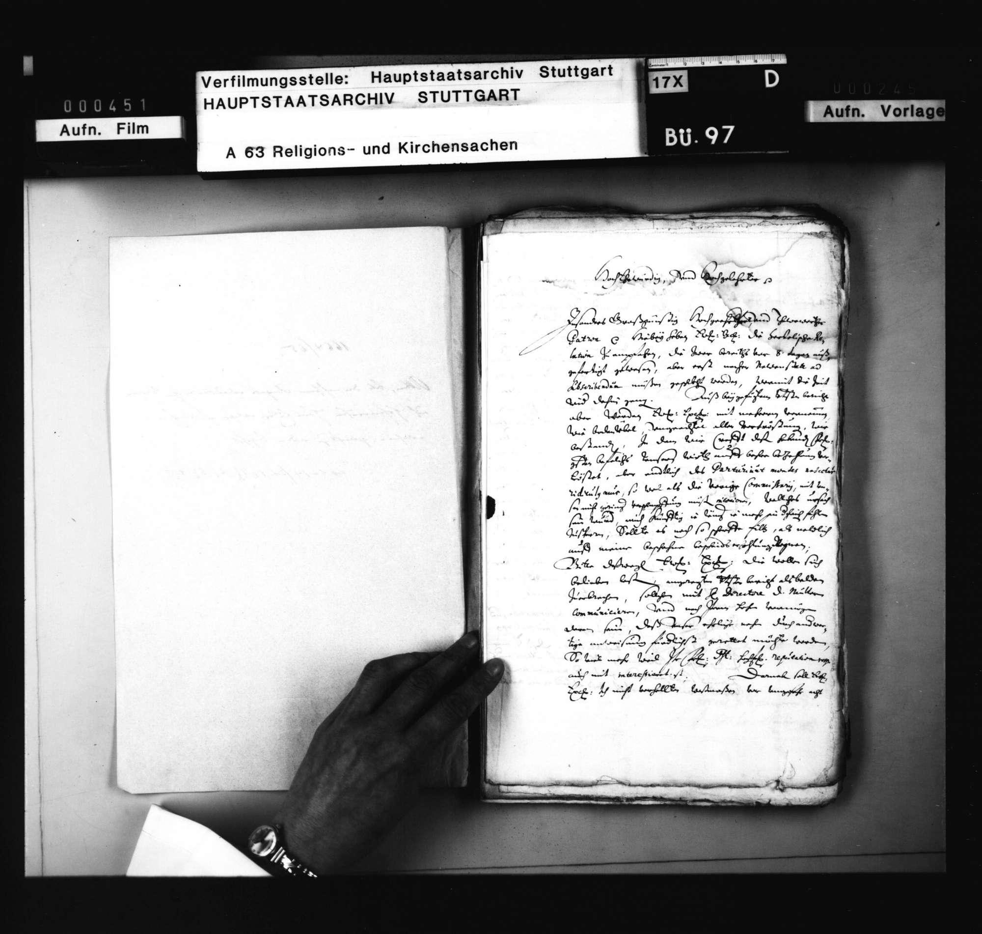Schriften, betreffend den nach seiner Angabe wiedertäuferischen Soldaten auf Hohenneufen Hans Euler, welcher christlich unterwiesen und getauft zu werden begehrt., Bild 2