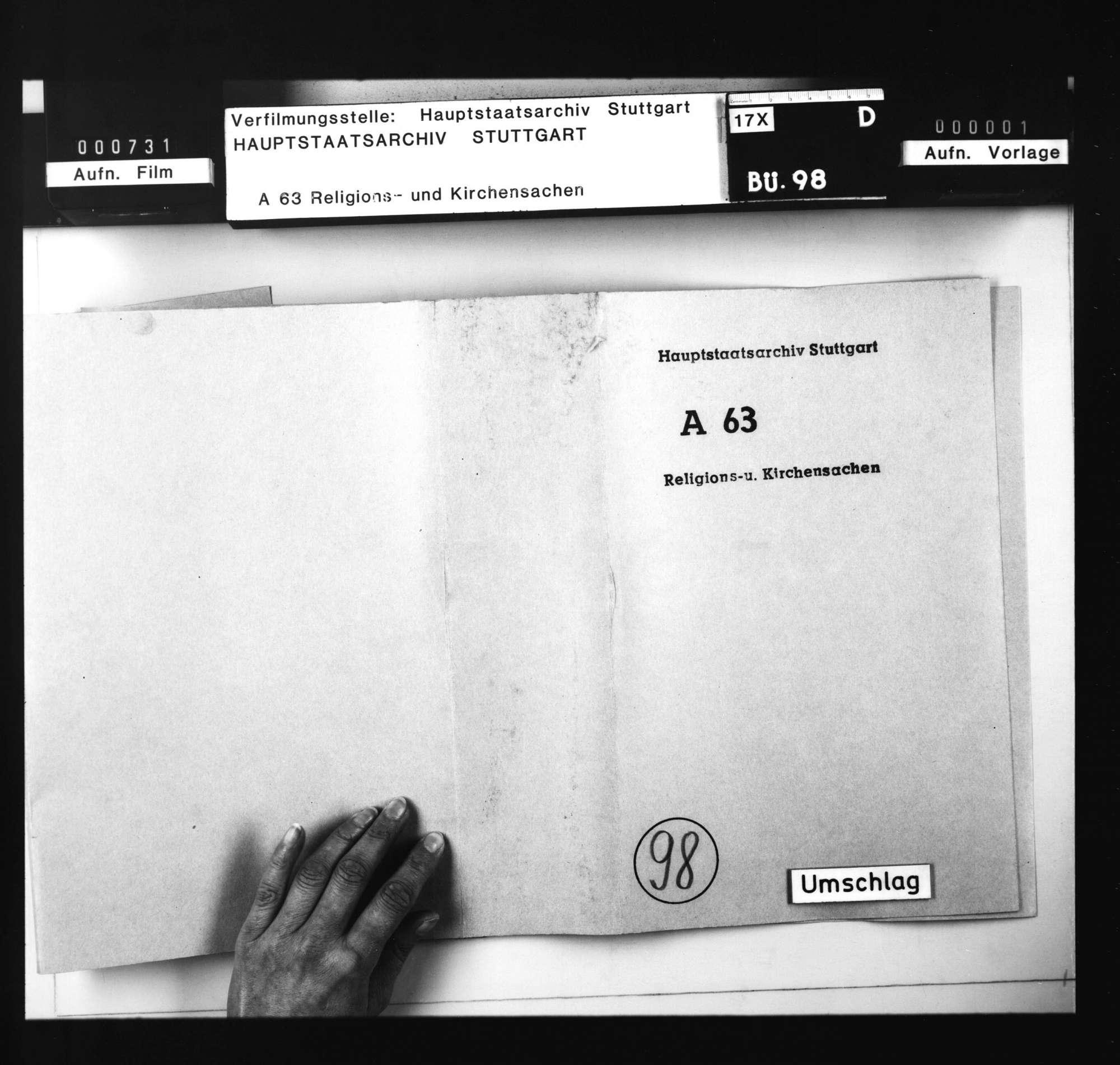3 Aktenstücke, betreffend Katholiken in Degenfeld, Heidenheimer Superintendenz., Bild 2
