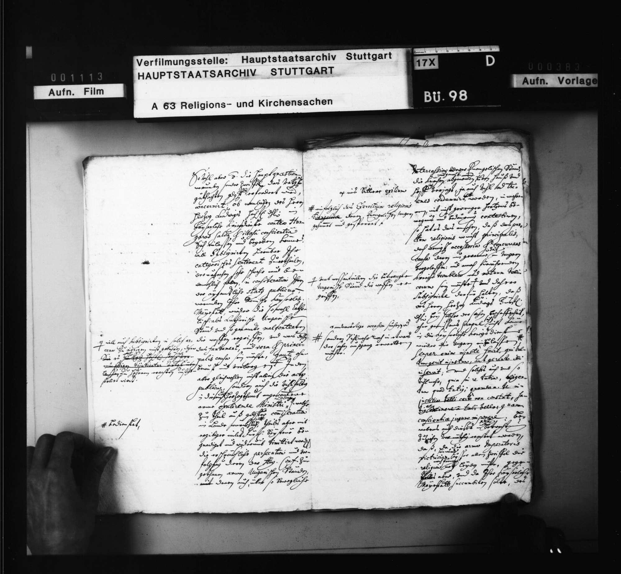 Akten, betreffend Gutachten der Konsistorialräte über die Frage, ob Prinz Ludwig kaiserliche Dienste gegen die Ungarn annehmen könne., Bild 3