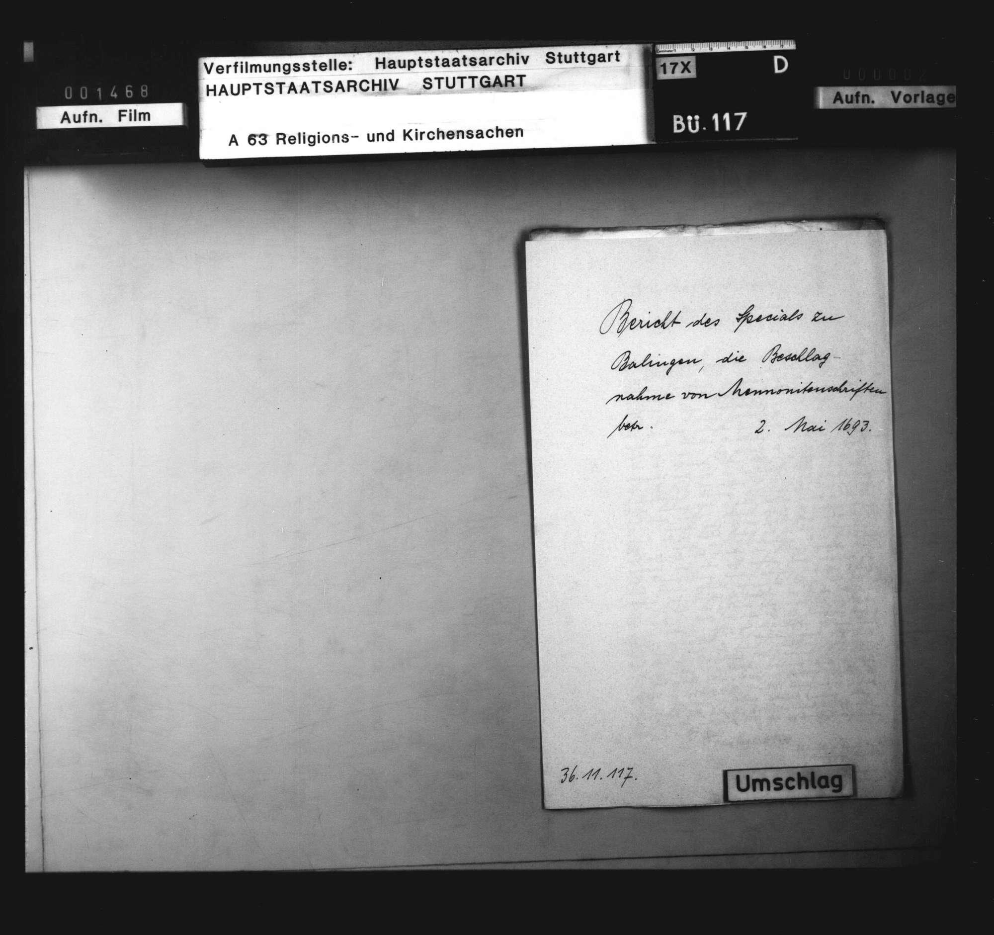 Zwei Berichte über die Beschlagnahme von Mennonitenschriften., Bild 3