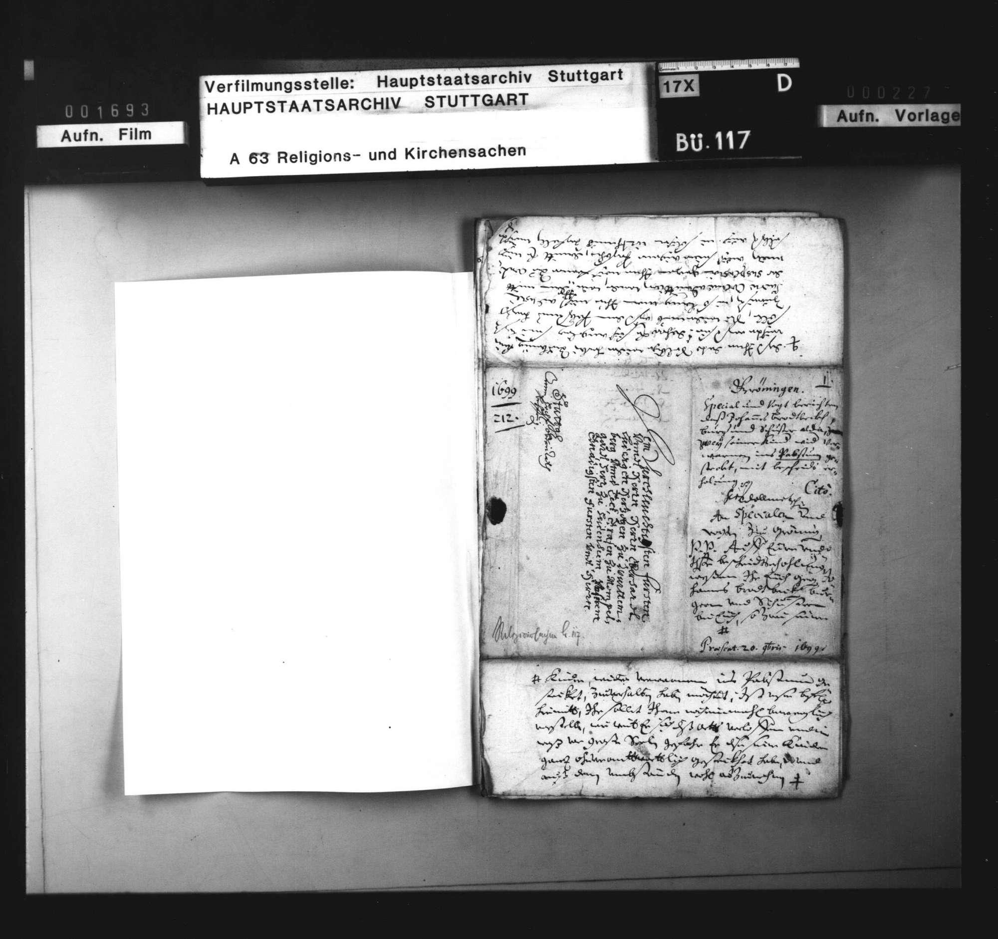 Schriften, betreffend das Verfahren gegen einen Markgröninger Bürger, der seine Kinder in der Schweiz katholisch erziehen ließ., Bild 3