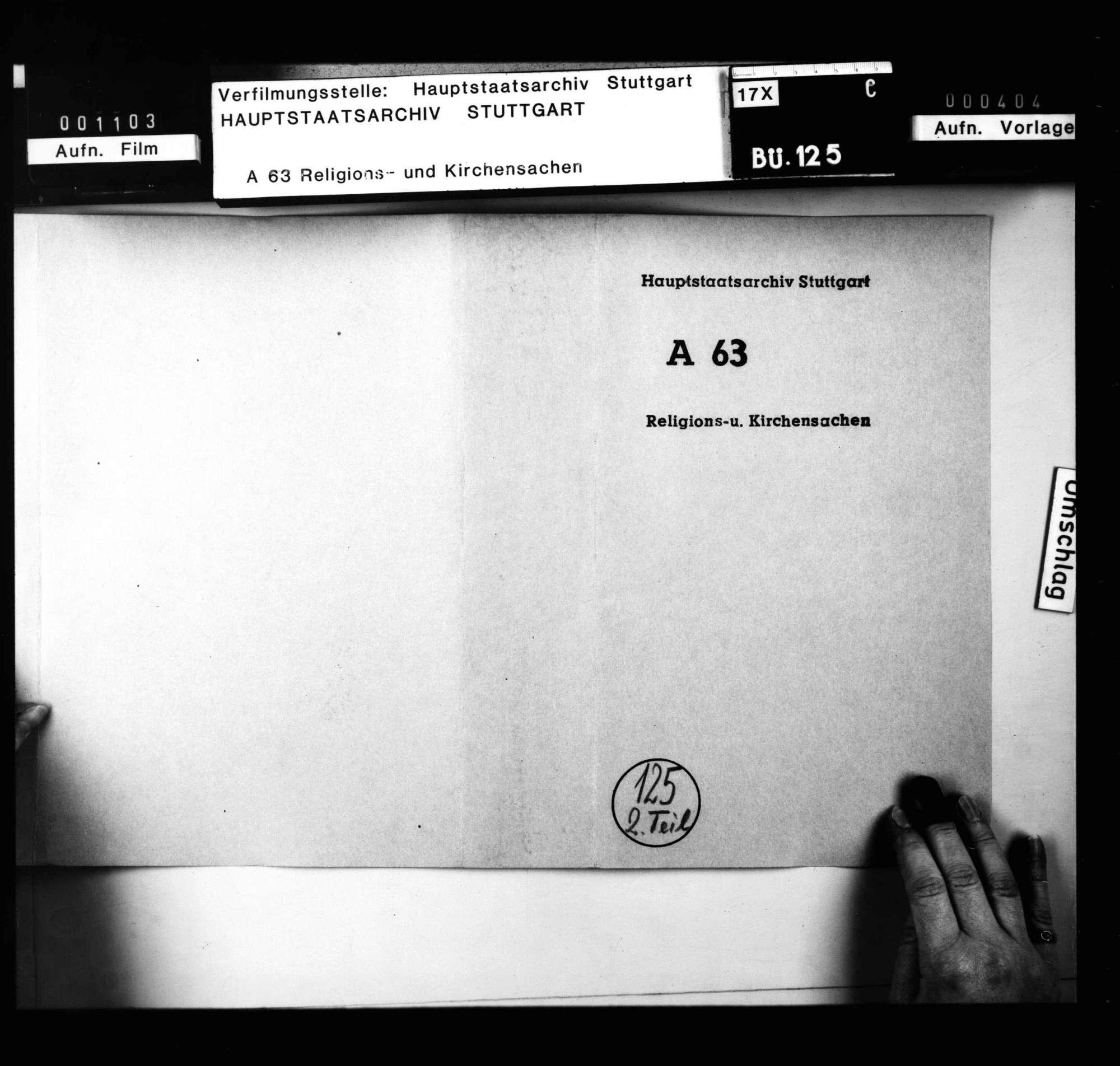Religionsreversalien Karl Alexanders, mit Akten über den Vormundschaftsstreit., Bild 1