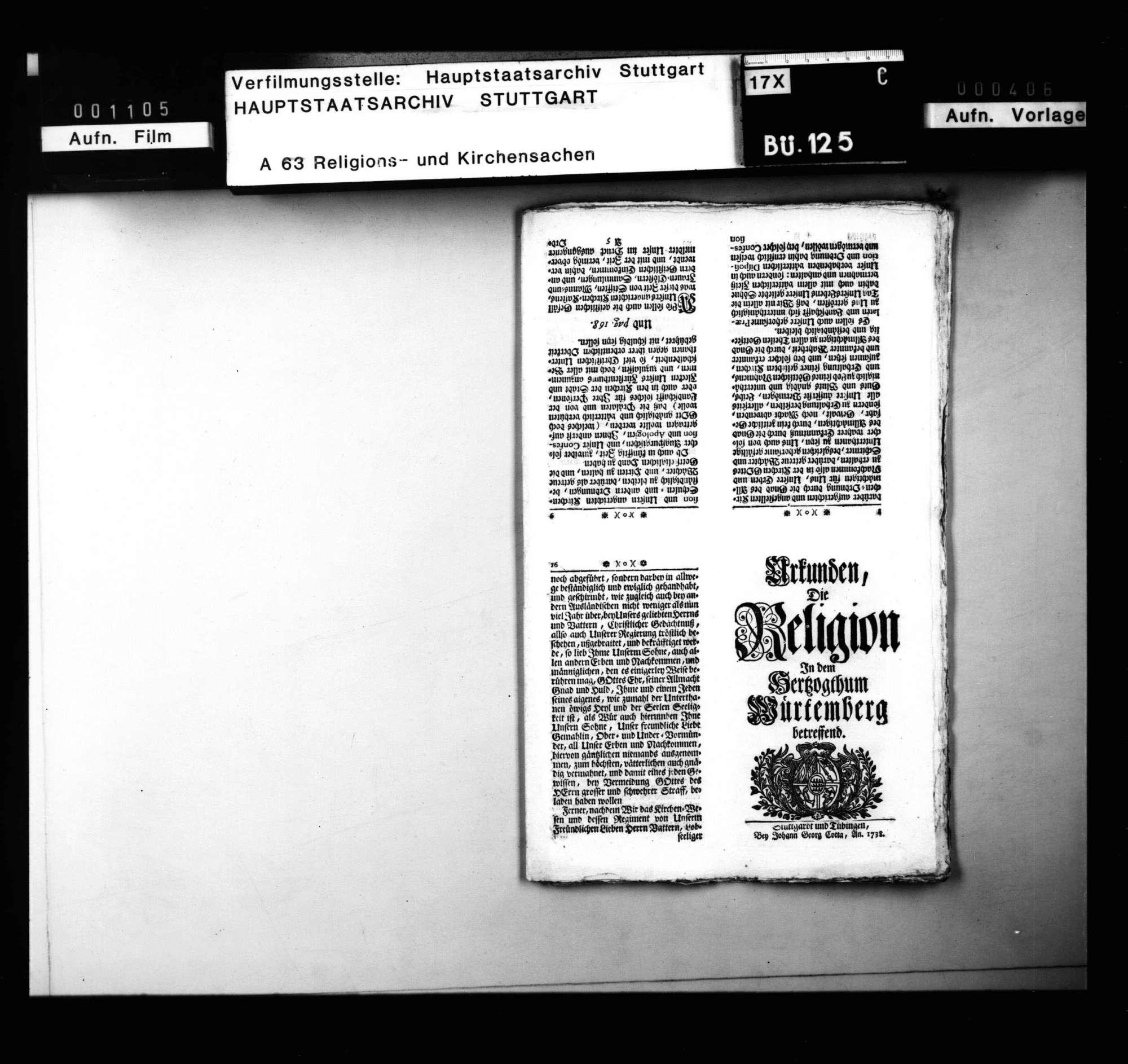 Religionsreversalien Karl Alexanders, mit Akten über den Vormundschaftsstreit., Bild 3