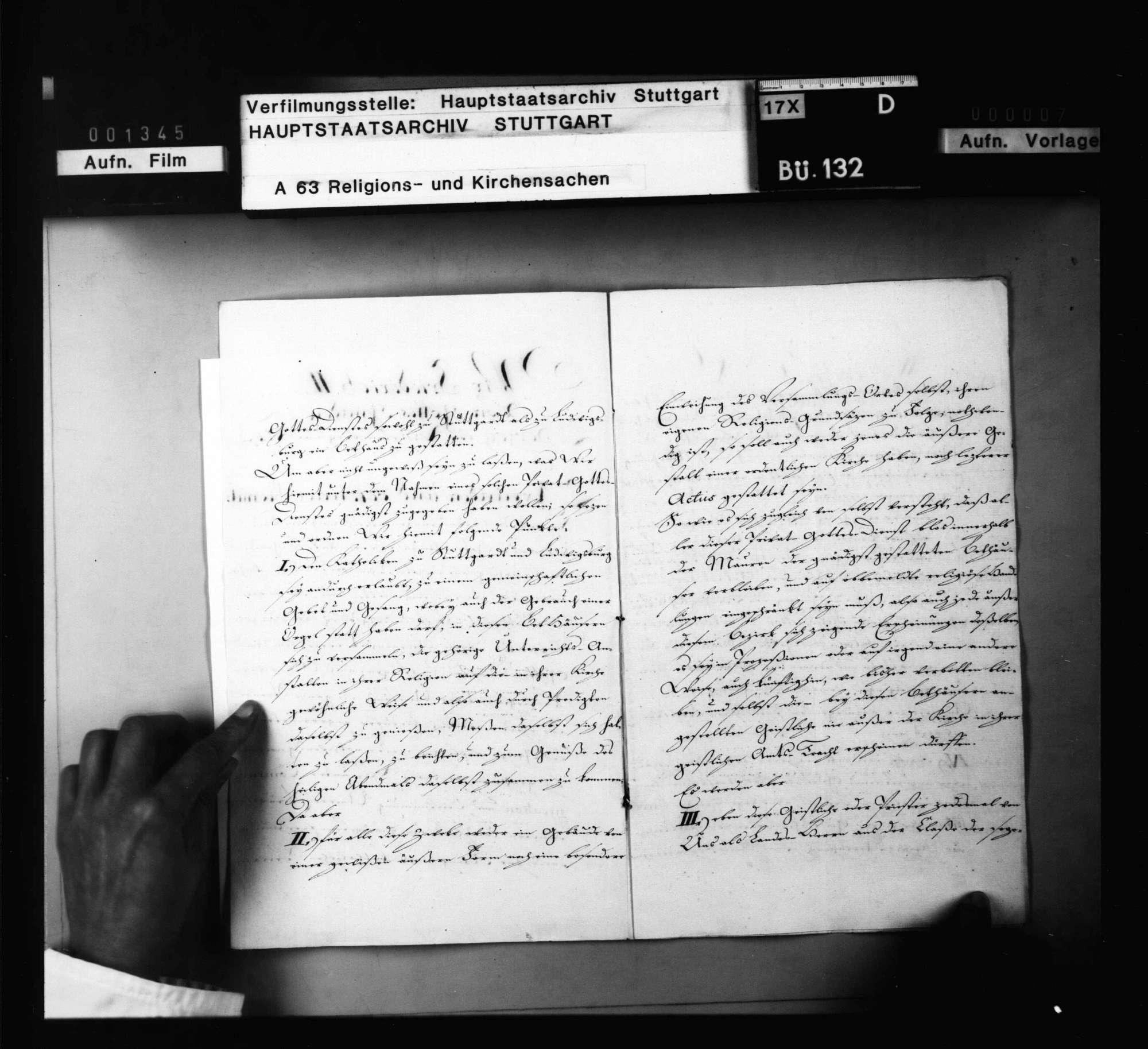 Herzog Friedrichs II. Fundationsurkunde über den Katholiken zu Stuttgart und Ludwigsburg gestatteten Privatgottesdienst., Bild 3