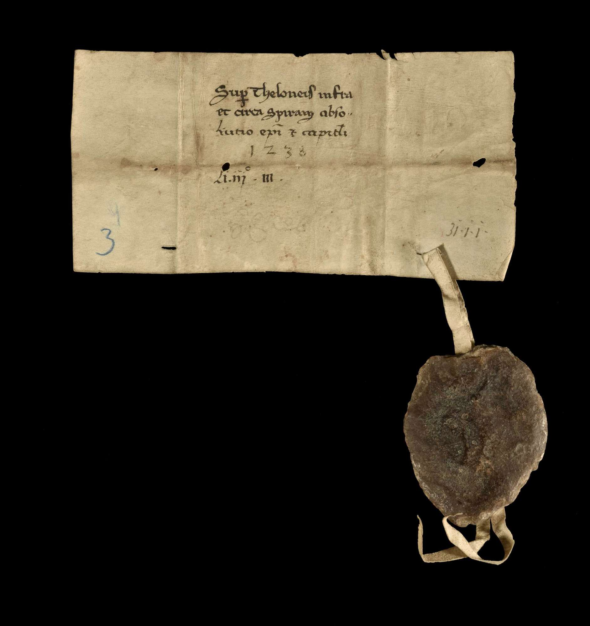 Der Bischof Konrad von Speyer befreit das Kloster Herrenalb von jedweder Zollabgabe, welche dasselbe seither in Speyer und dessen Umgegend zu entrichten verpflichtet war., v