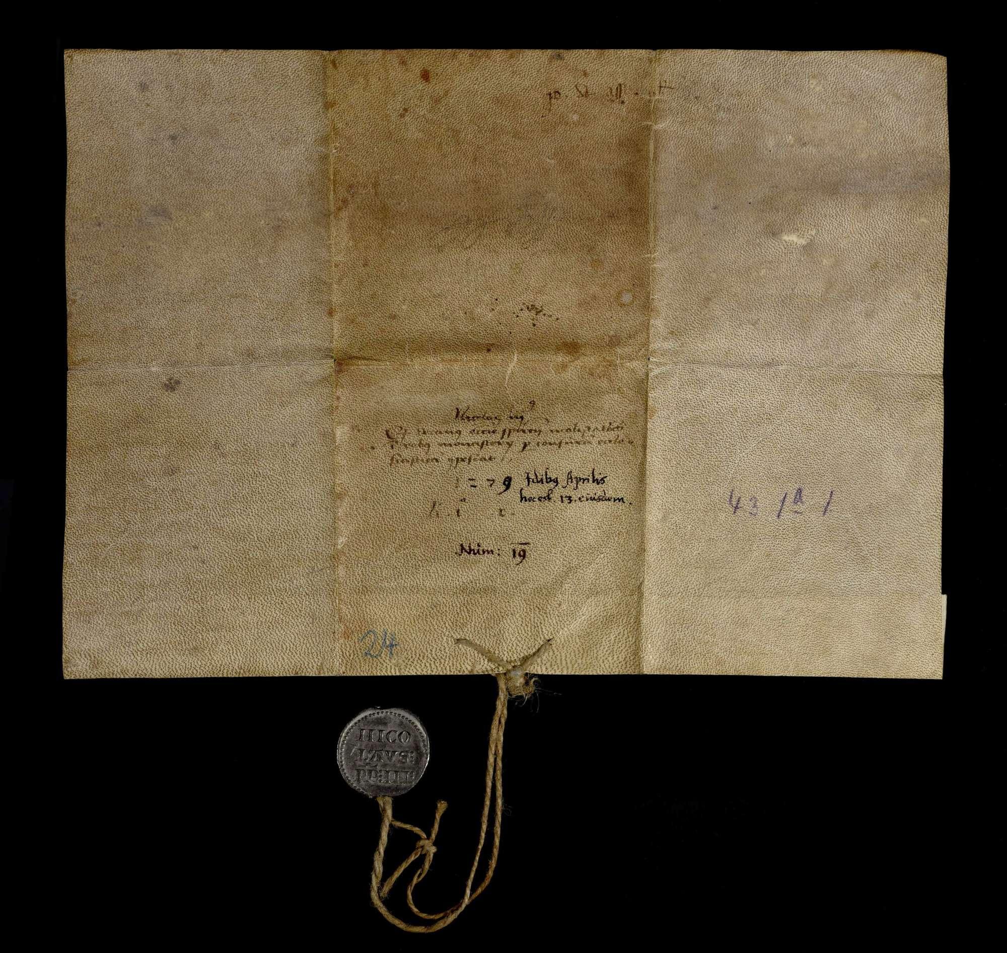 Papst Nikolaus III. bestätigt dem Kloster Herrenalb alle seine Rechtsbegünstigungen und Befreiungen von weltlichen Abgaben., v