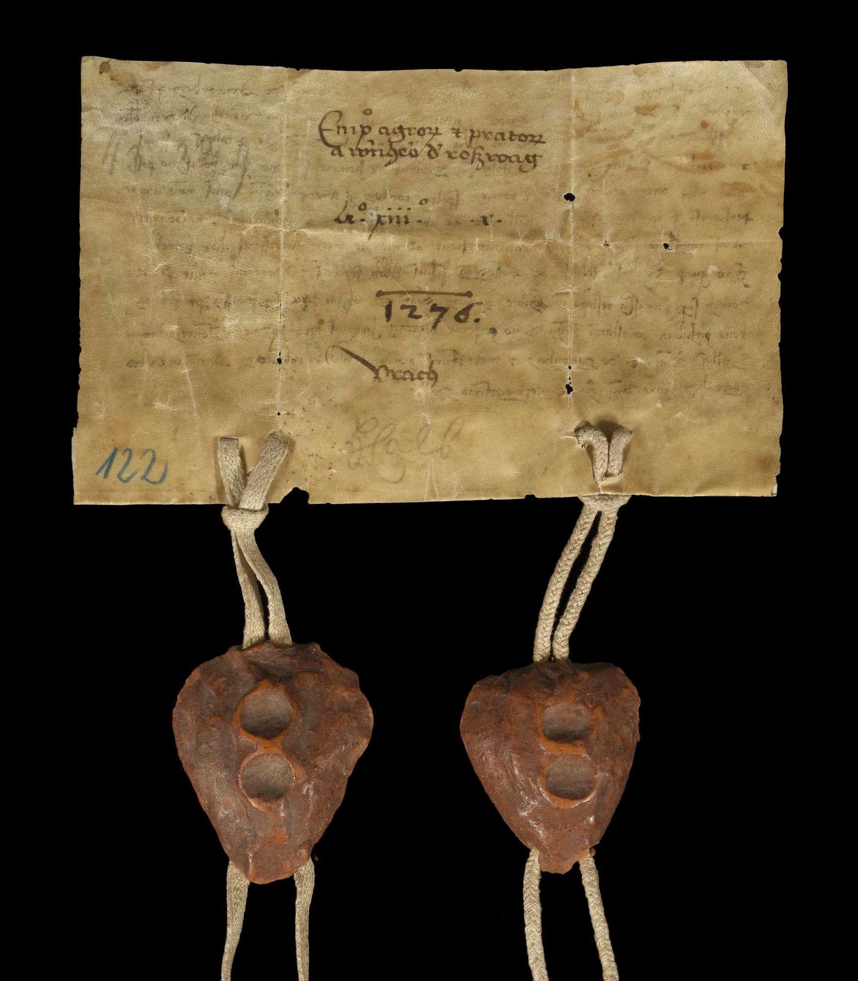 Werner, der Sohn Alberts des Jüngeren von Roßwag, genannt von Bönnigheim, verkauft dem Kloster Herrenalb alle seine Acker und Wiesen in Aurich., v