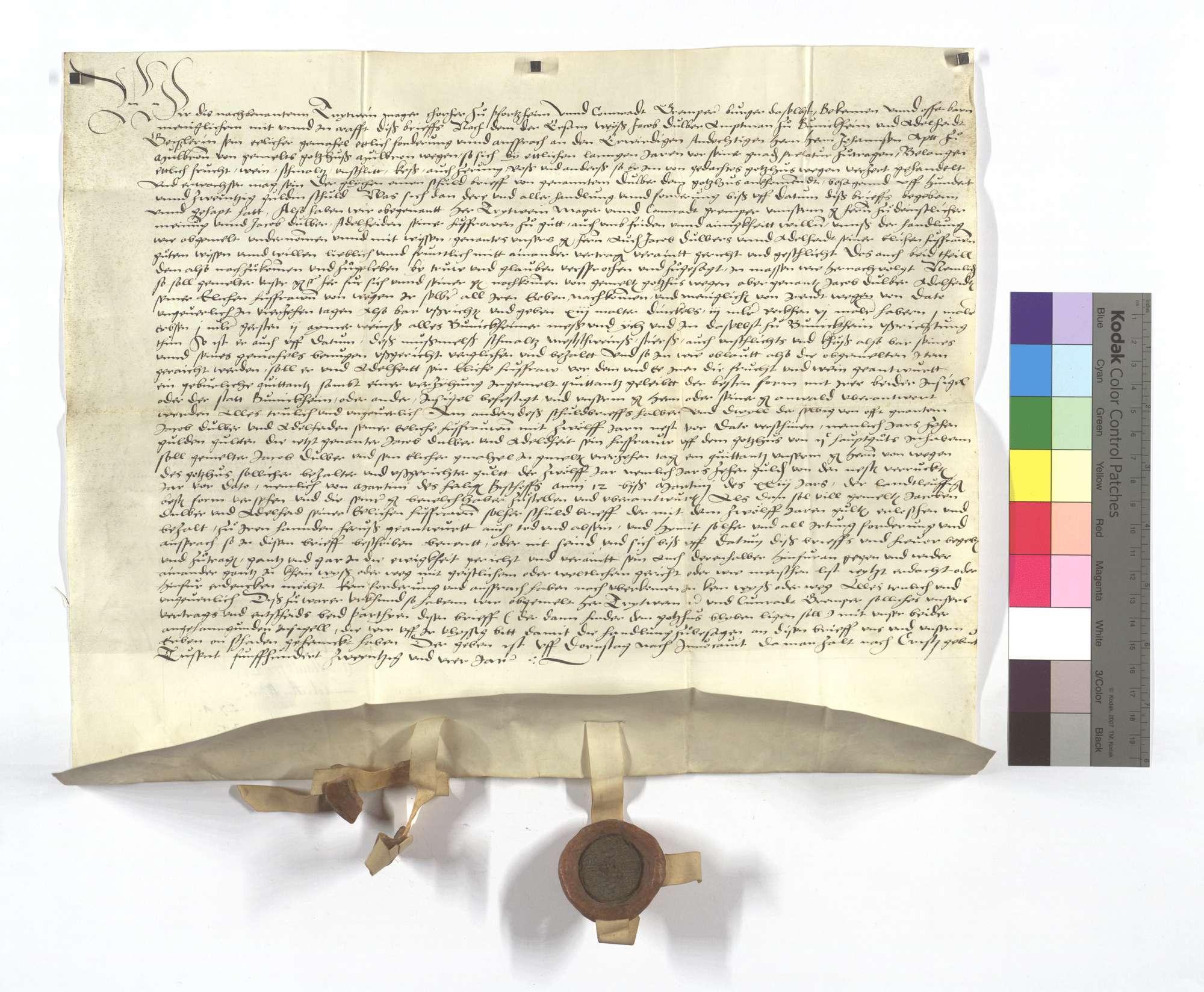 Vertrag zwischen dem Kloster Maulbronn und Jacob Dulber, dem Amtmann zu Bönnigheim, wegen etlicher alter Ausstände, die das Kloster ihm zu tun schuldig sei., Text